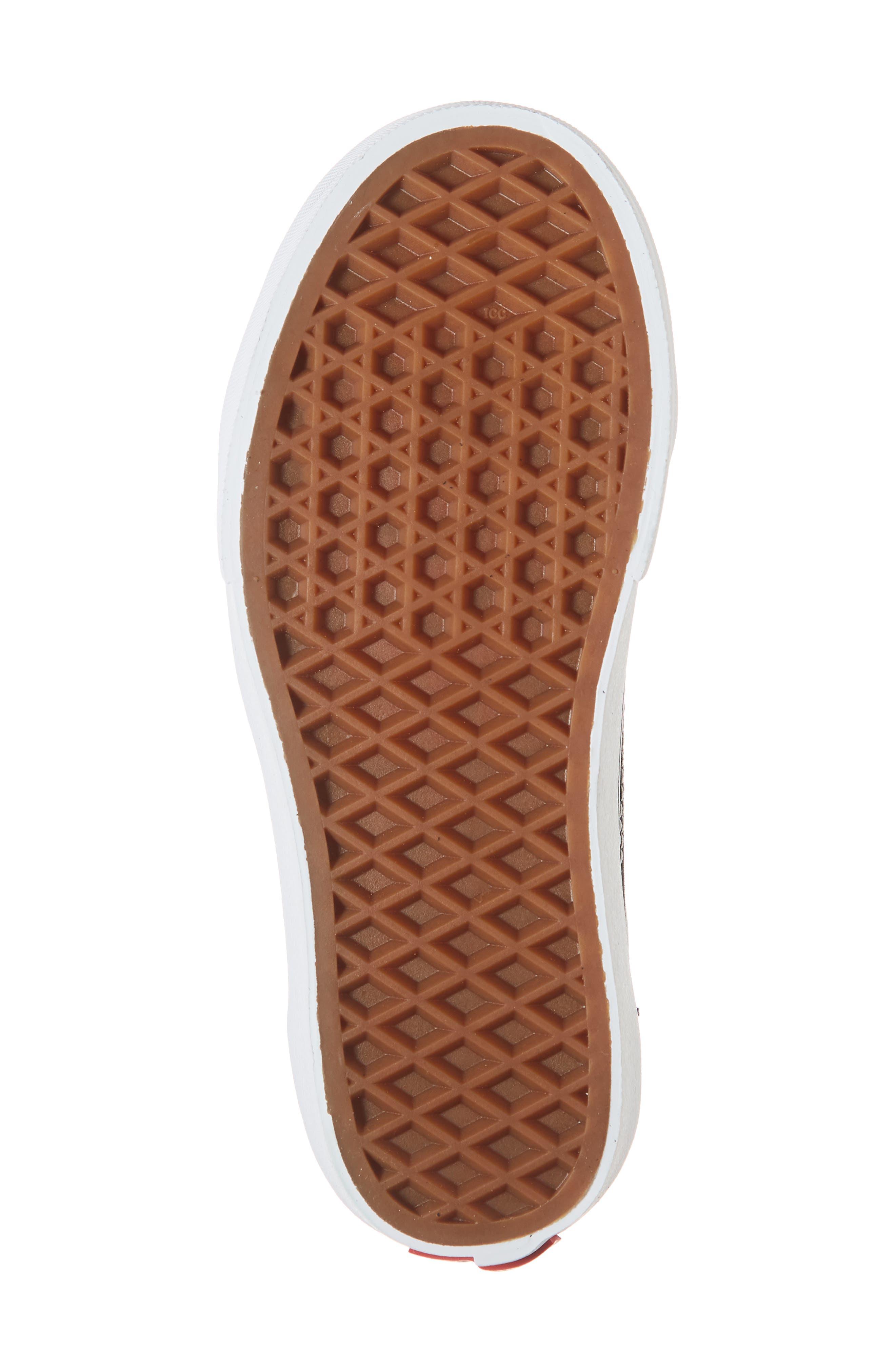 VANS, Old Skool Platform Sneaker, Alternate thumbnail 6, color, BLACK/ TRUE WHITE