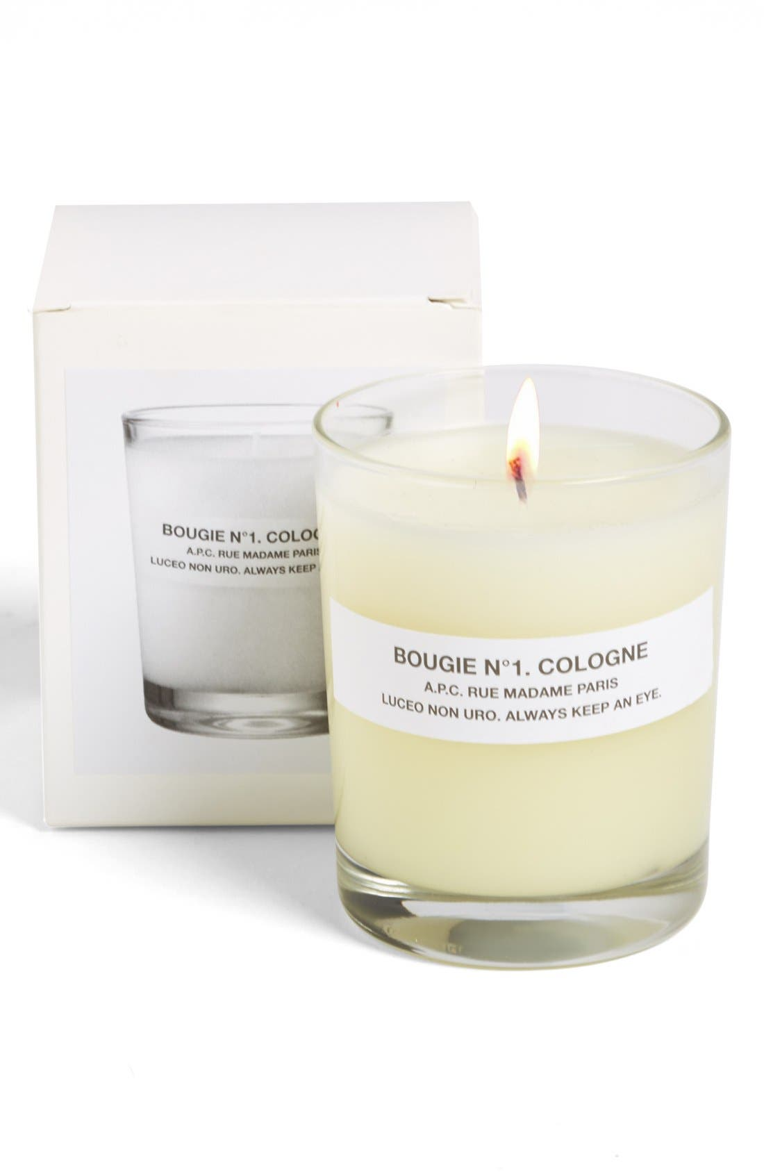 A.P.C., 'Bougie Cologne' Scented Candle, Alternate thumbnail 3, color, 800