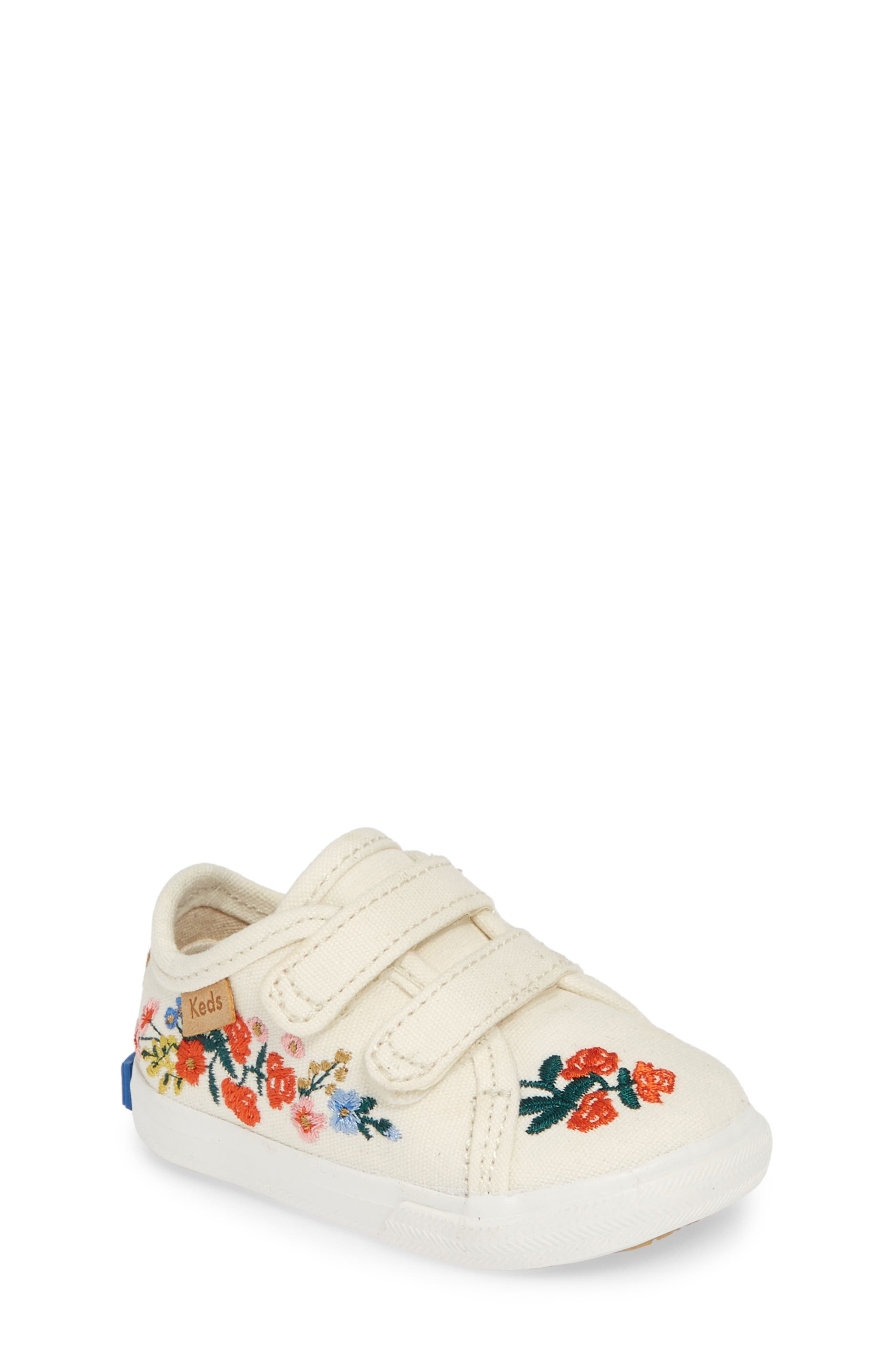 KEDS<SUP>®</SUP> x Rifle Paper Co. Double Up Crib Shoe, Main, color, VINES