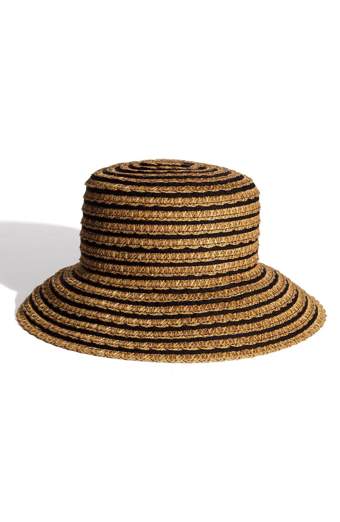 ERIC JAVITS, 'Braid Dame' Hat, Main thumbnail 1, color, BLACK MIX