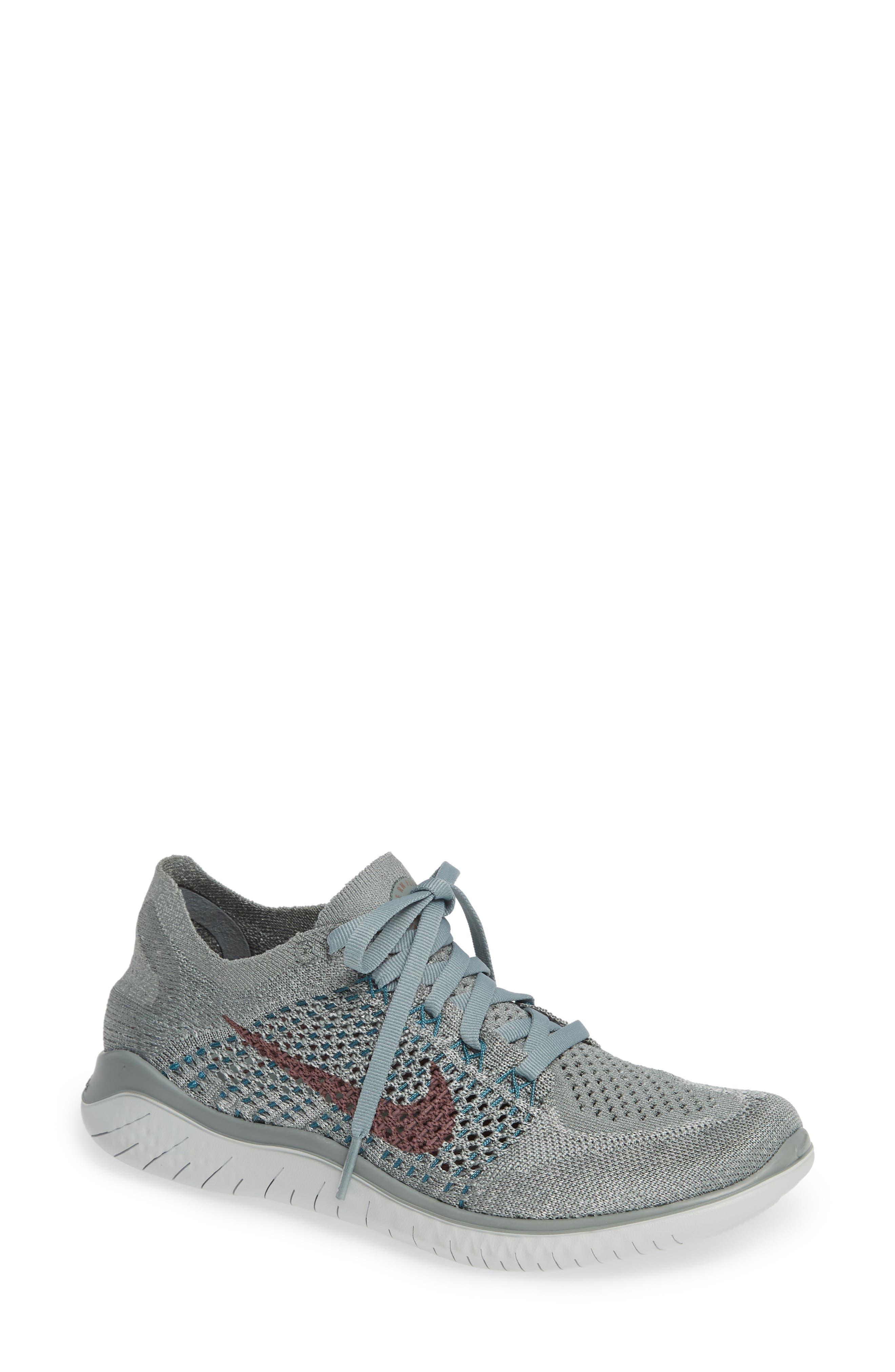 NIKE Free RN Flyknit 2018 Running Shoe, Main, color, 300
