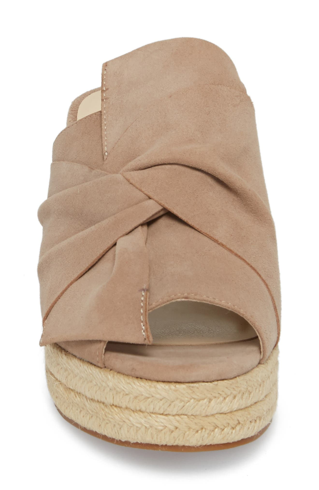 SOLE SOCIETY, Carima Espadrille Wedge, Alternate thumbnail 4, color, TAUPE FABRIC