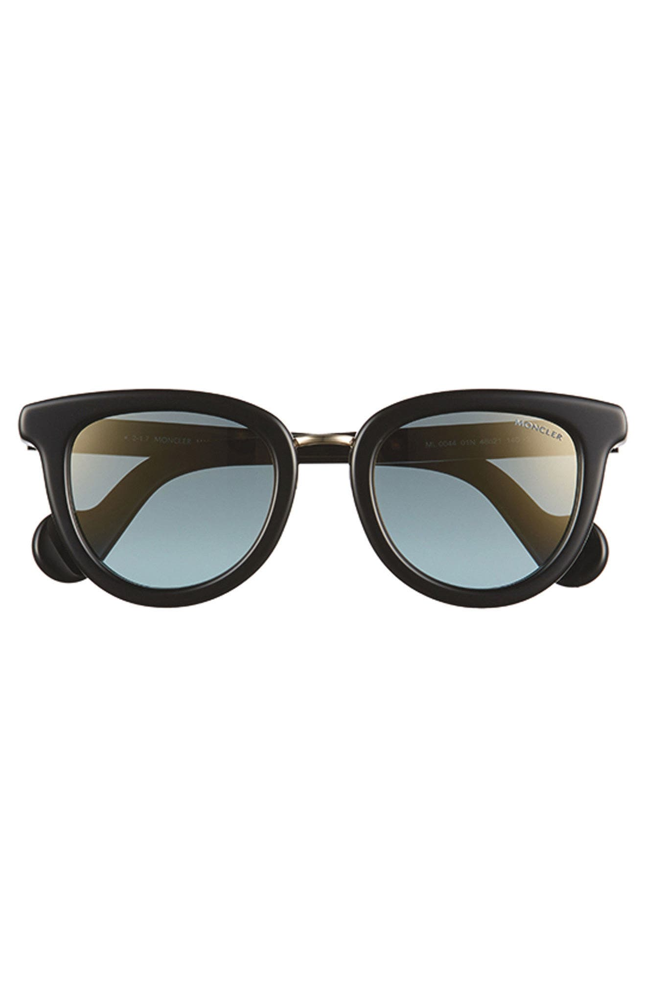 MONCLER, 48mm Cat Eye Sunglasses, Alternate thumbnail 4, color, PEARL BROWN/ GREY/ SAND