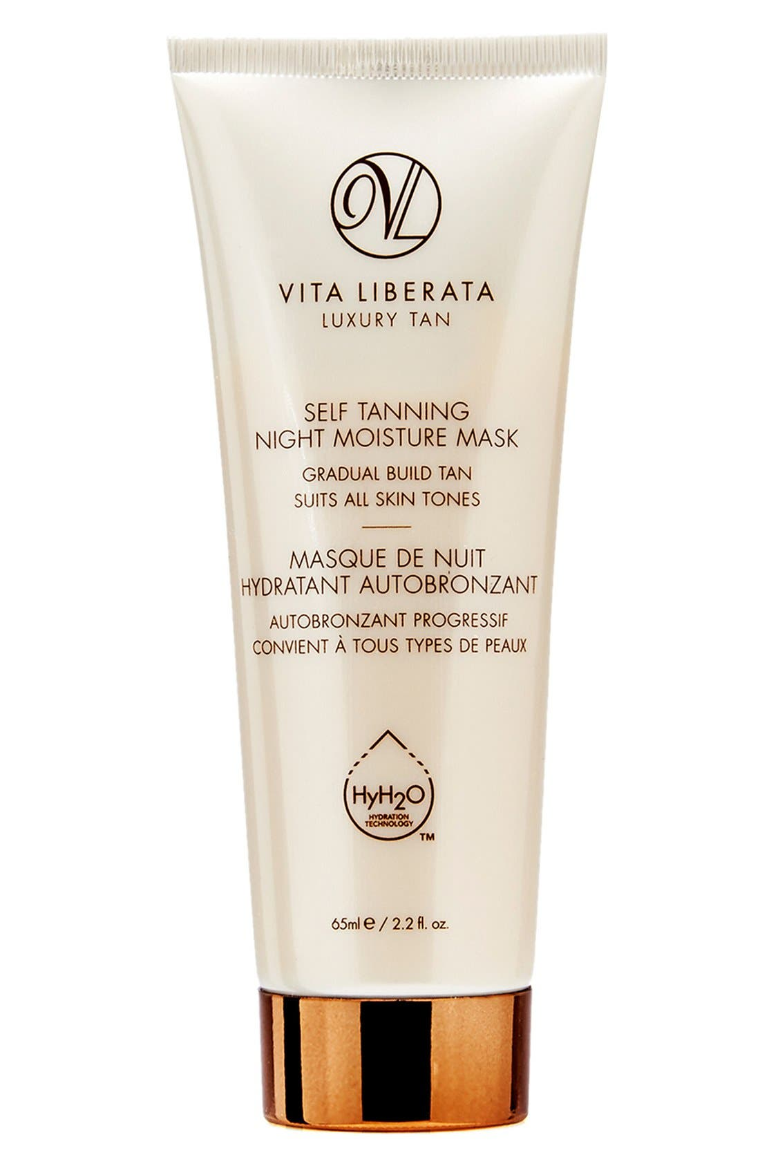 VITA LIBERATA Self Tanning Night Moisture Mask, Main, color, NO COLOR
