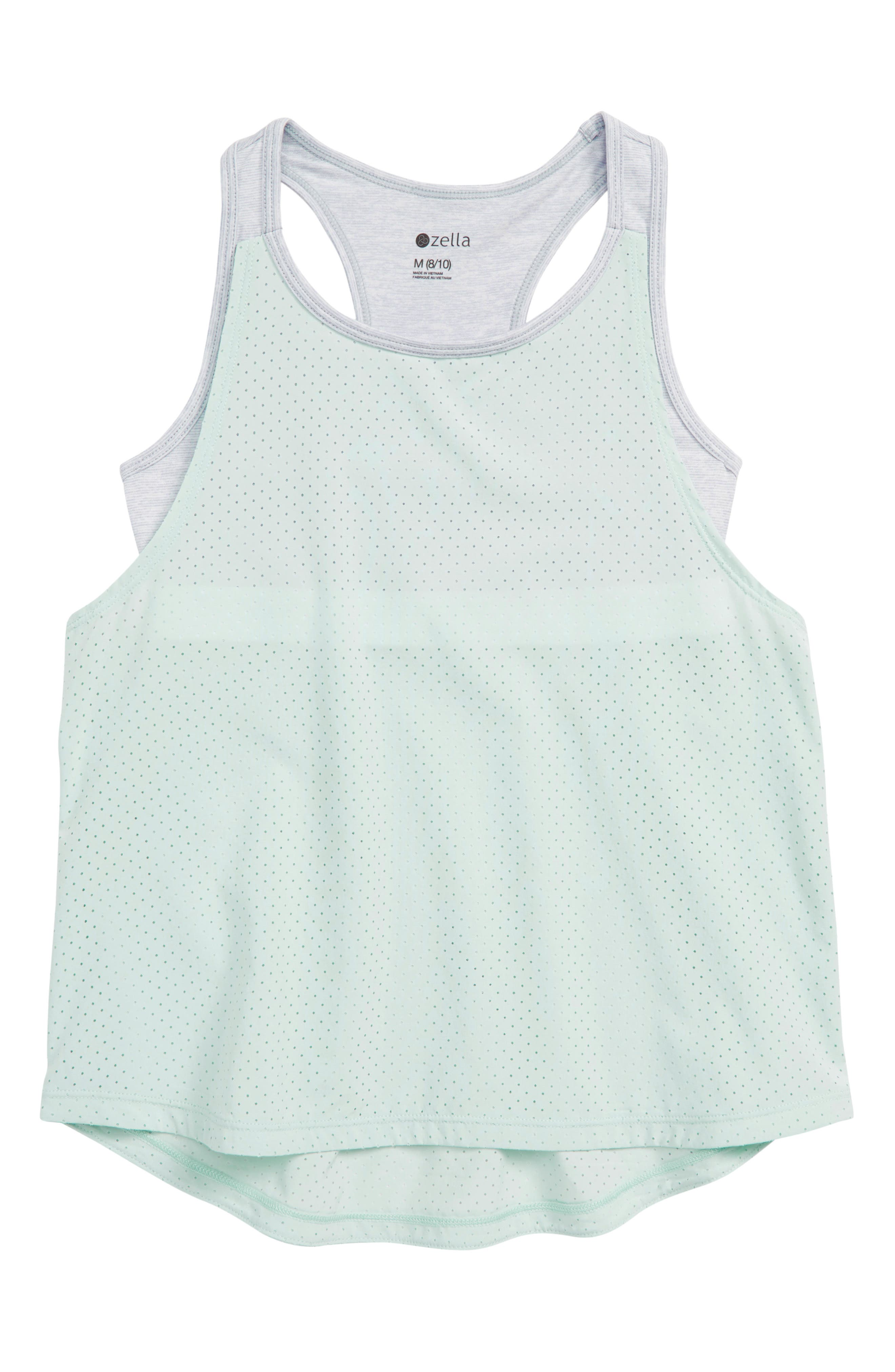ZELLA GIRL Sundazed Layer Tank, Main, color, TEAL SURF