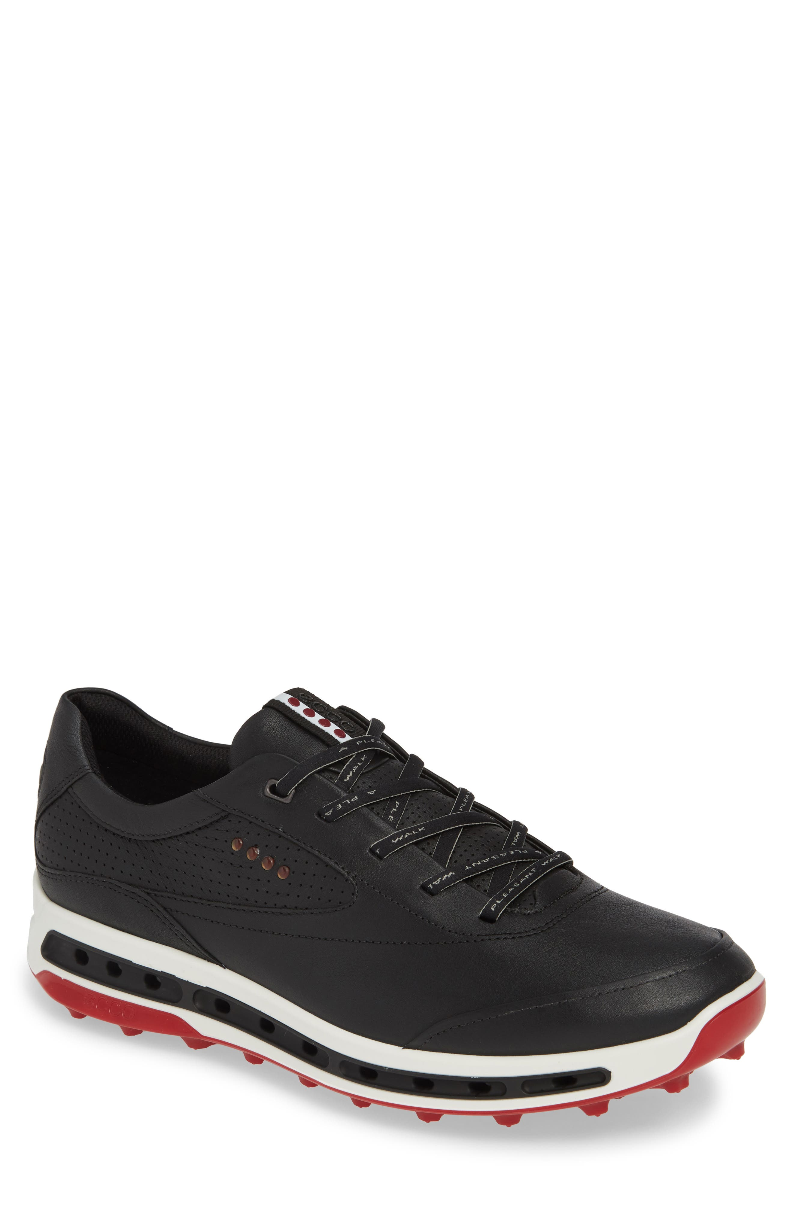 ECCO, Cool Pro Gore-Tex<sup>®</sup> Golf Shoe, Main thumbnail 1, color, BLACK/ BRICK LEATHER