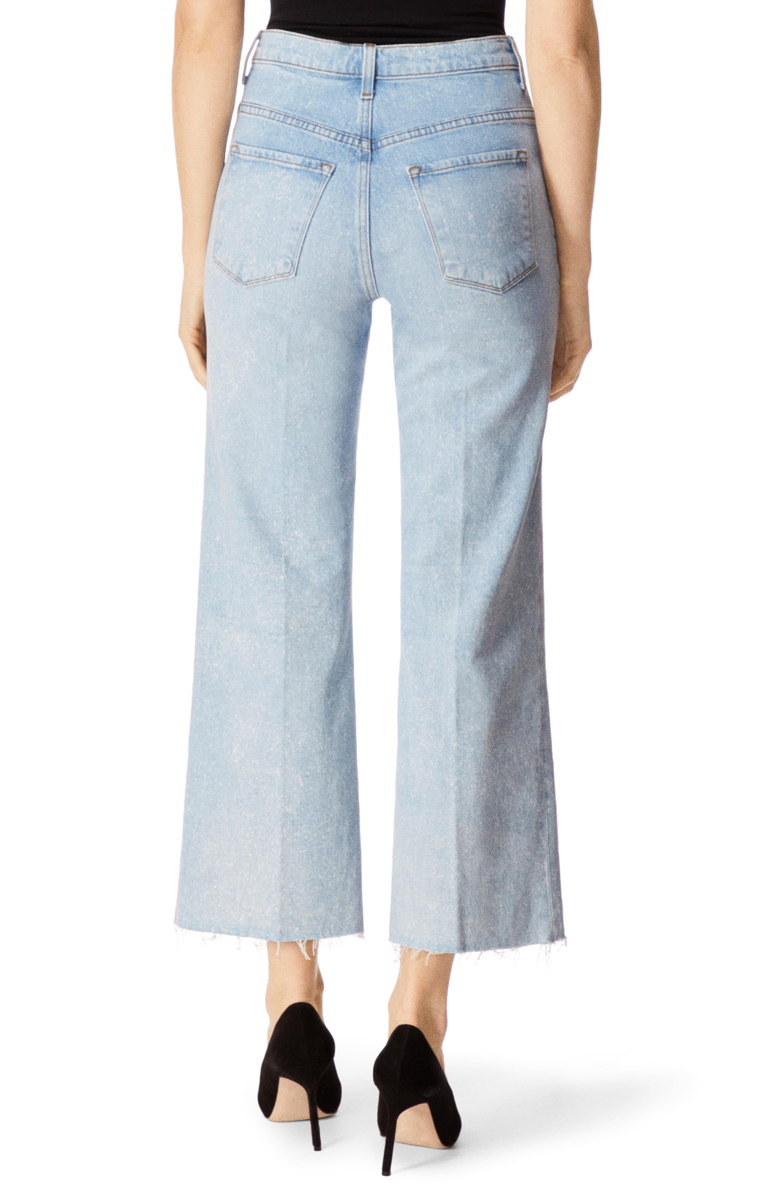 J BRAND, Joan High Waist Crop Wide Leg Jeans, Alternate thumbnail 2, color, AERGLO