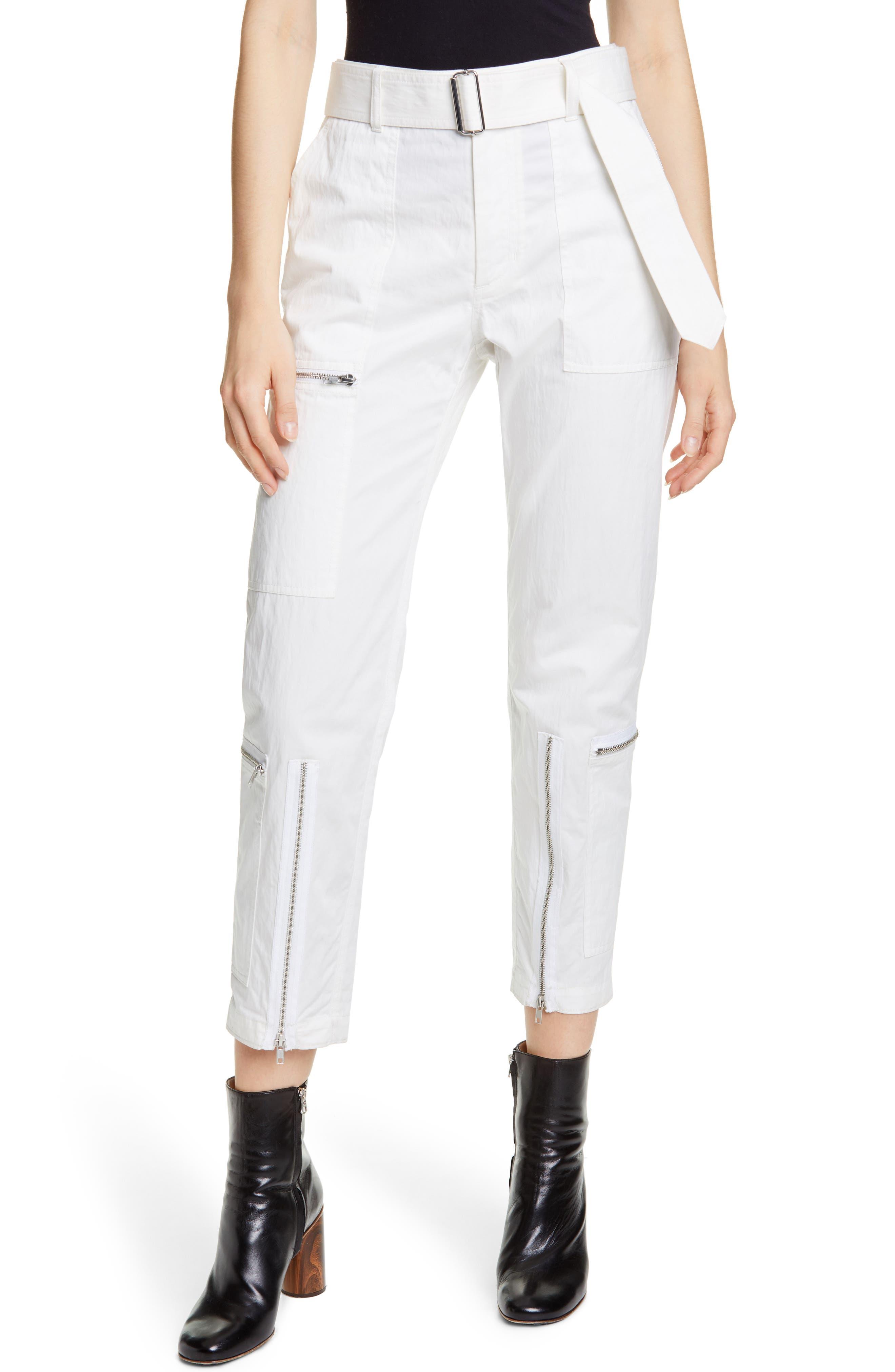 HELMUT LANG Flight Pants, Main, color, WHITE