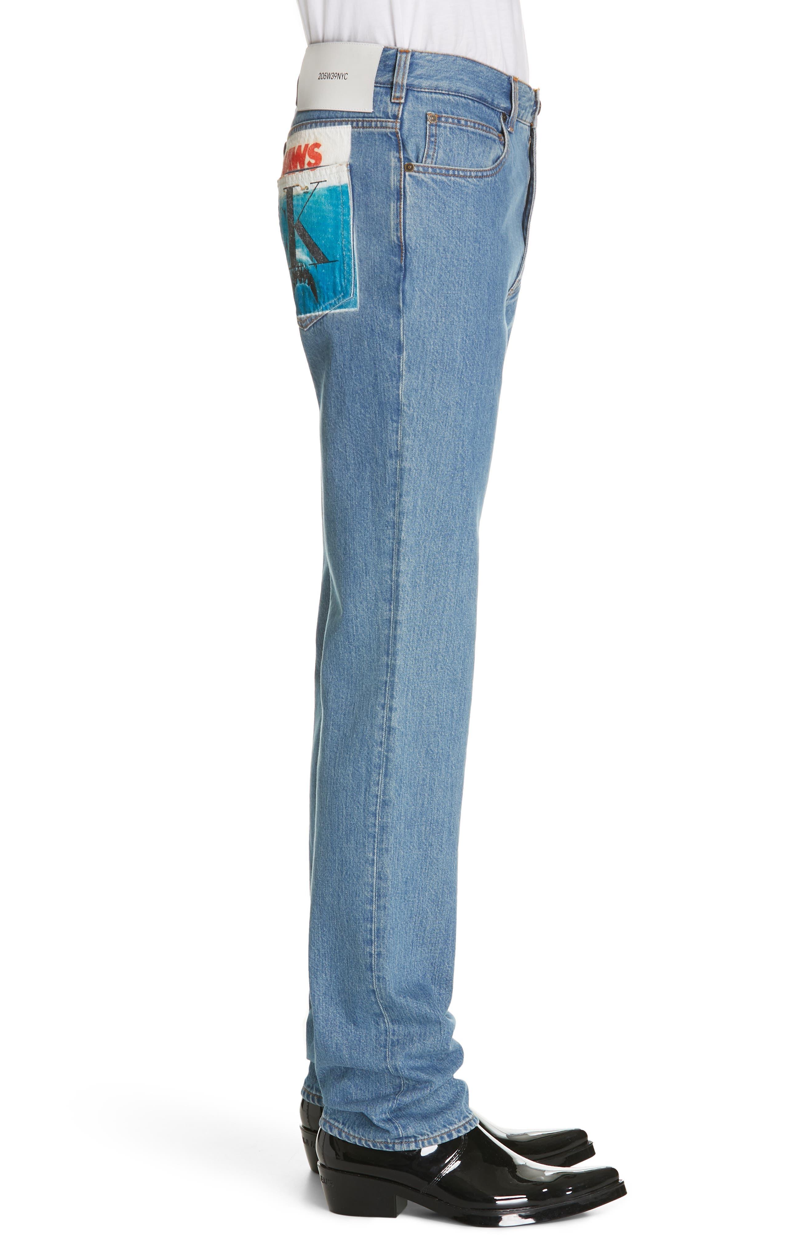 CALVIN KLEIN 205W39NYC, Jeans, Alternate thumbnail 3, color, BLUE