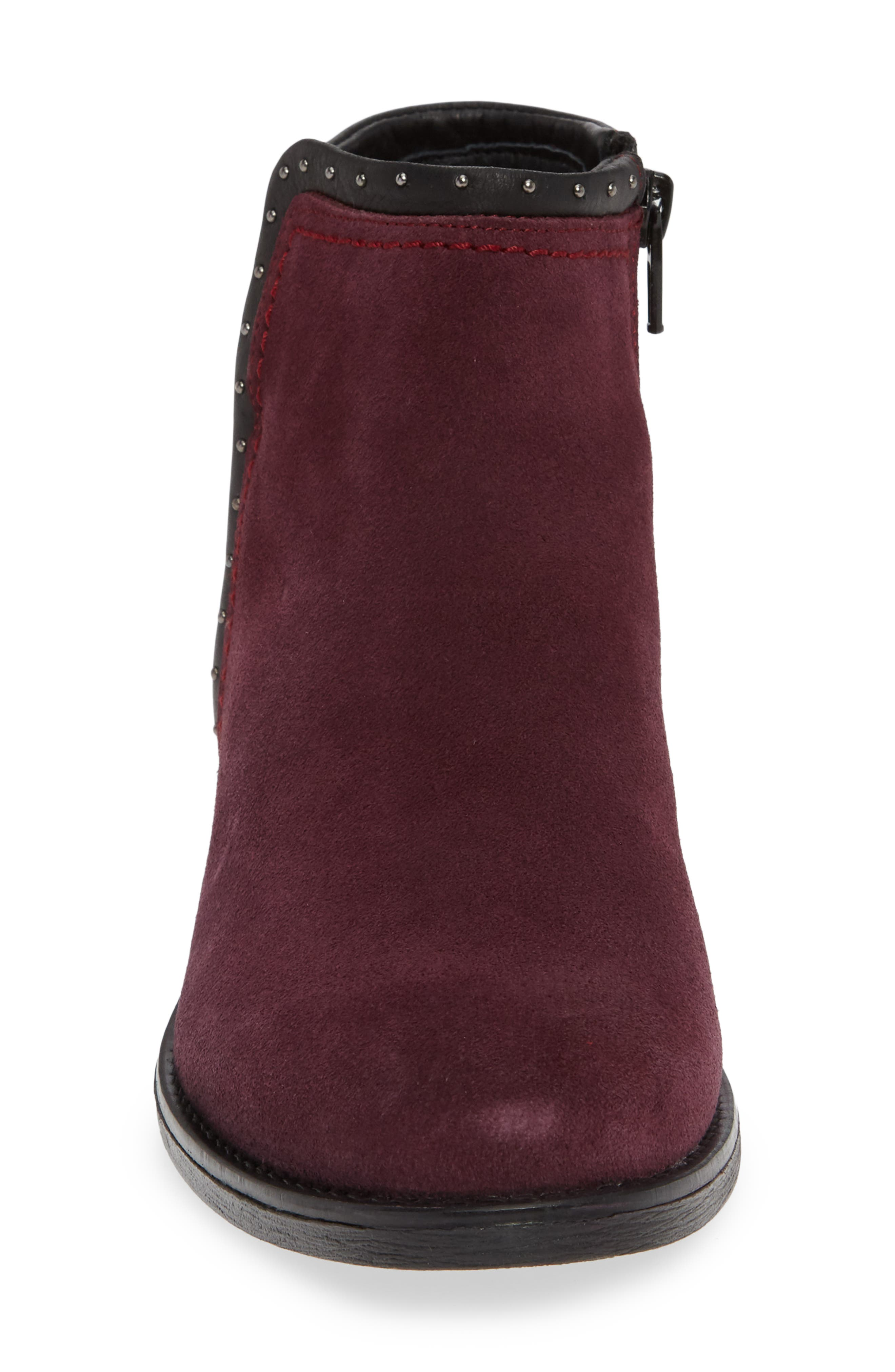 BOS. & CO., Ribos Bootie, Alternate thumbnail 4, color, PRUNE SUEDE