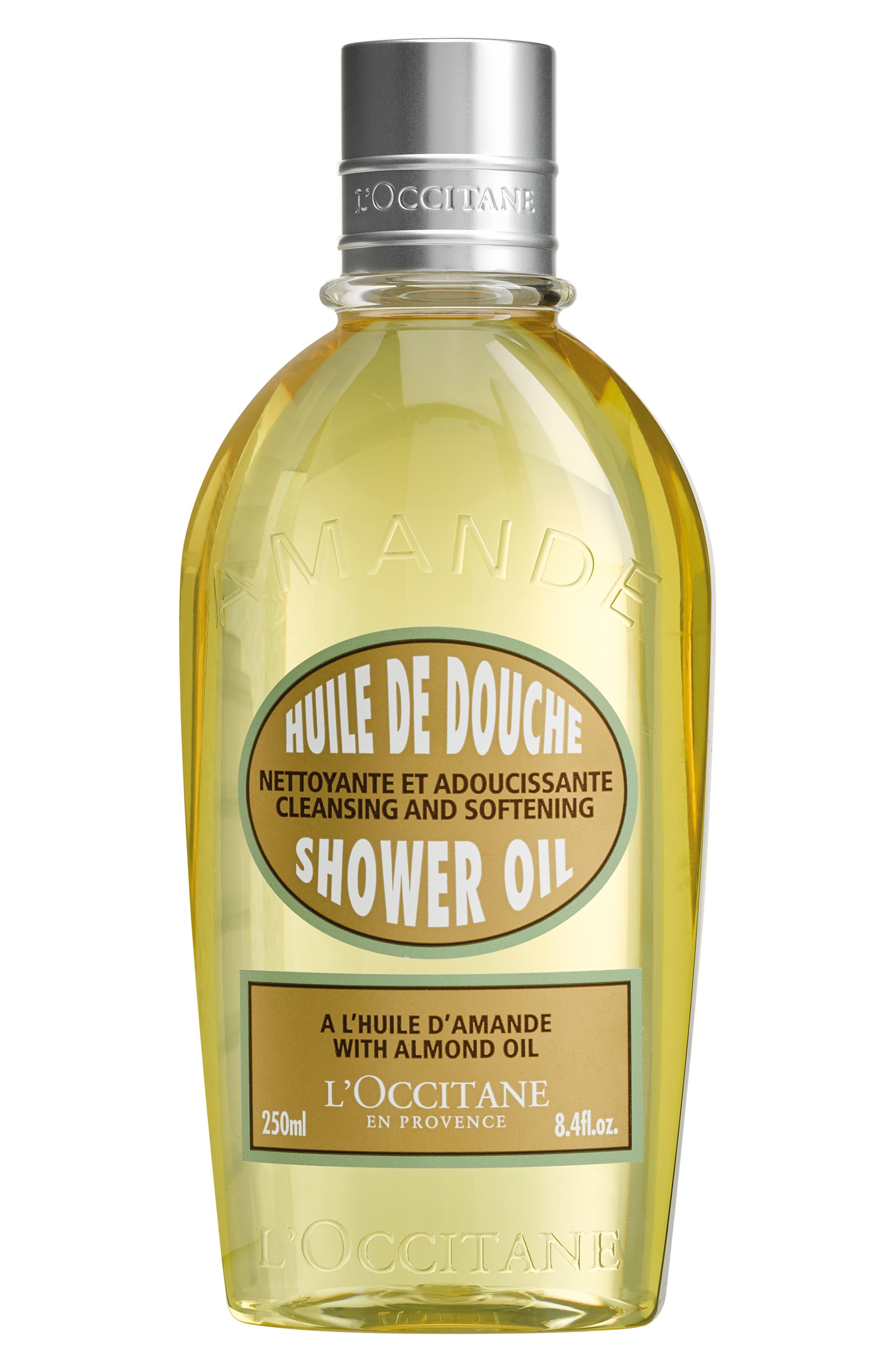 L'OCCITANE, Almond Shower Oil, Main thumbnail 1, color, NO COLOR