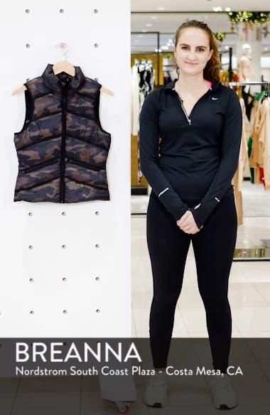 Mesh Inset Down Vest, sales video thumbnail