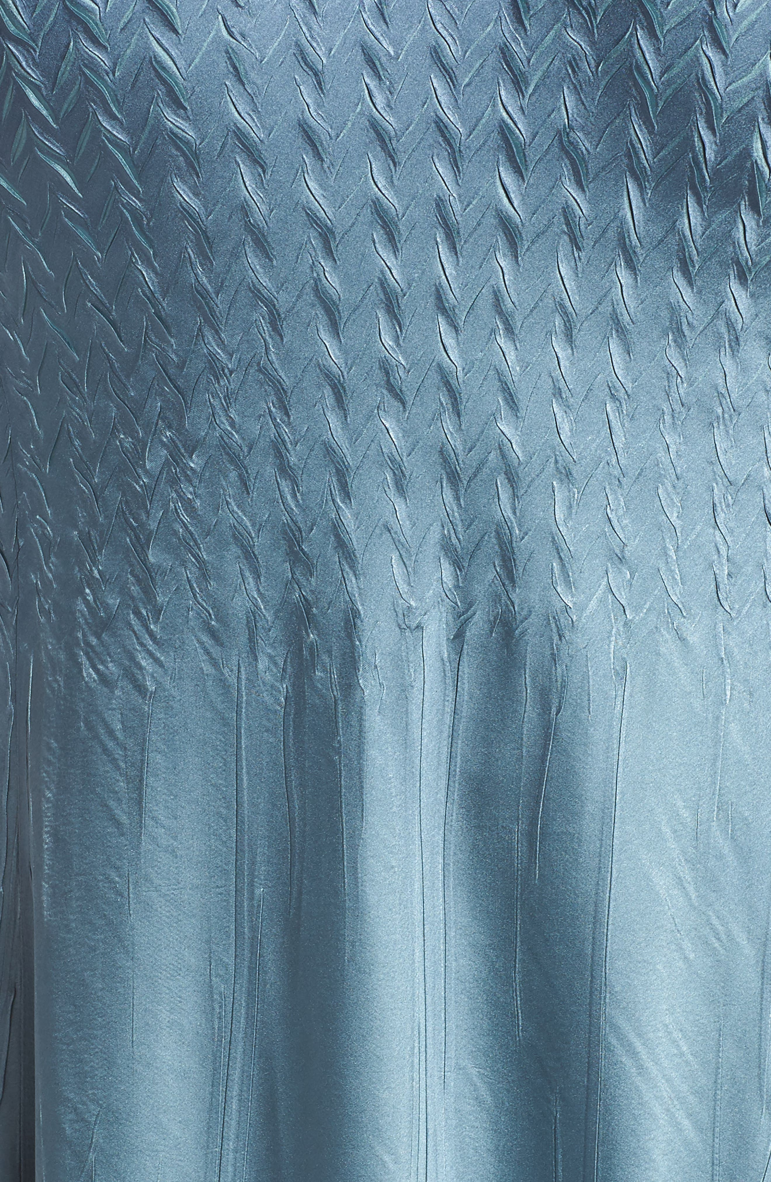 KOMAROV, Charmeuse Cocktail Dress with Jacket, Alternate thumbnail 6, color, SILVER BLUE OMBRE