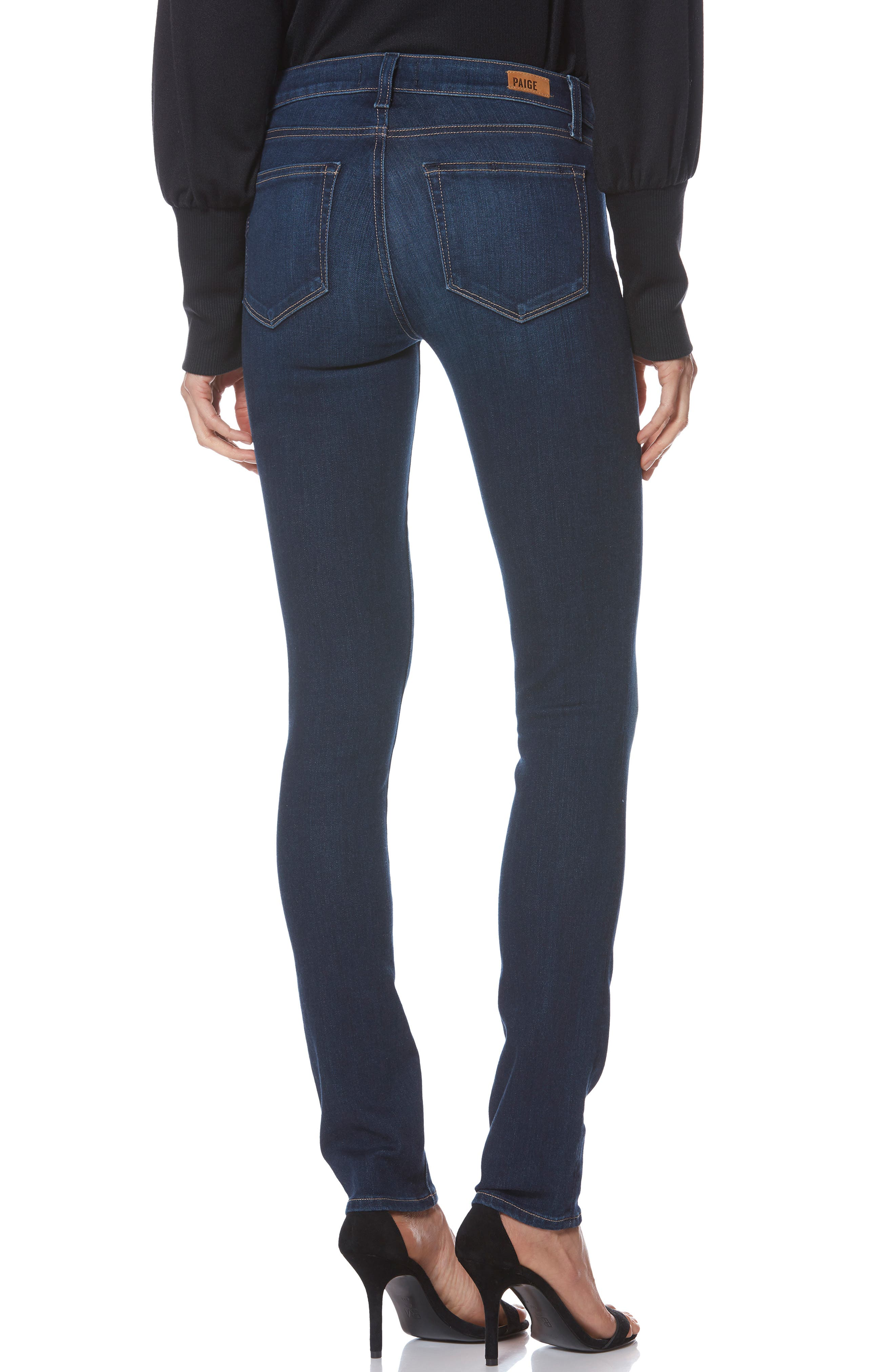 PAIGE, Skyline Skinny Jeans, Alternate thumbnail 2, color, IDLEWILD