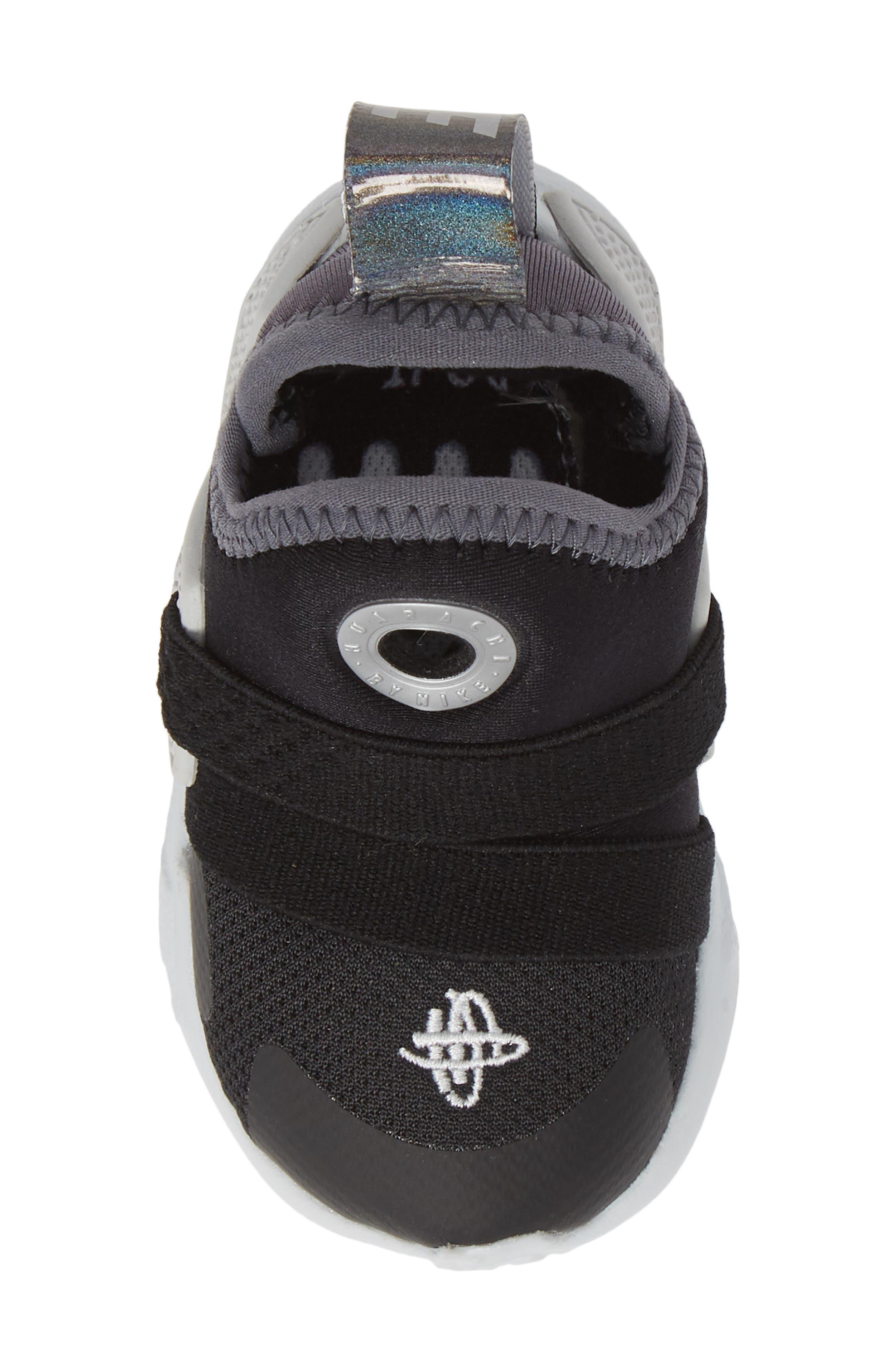 NIKE, Huarache Extreme Sneaker, Alternate thumbnail 5, color, BLACK/ METALLIC SILVER-GREY