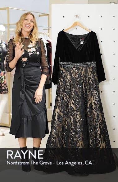 Velvet & Sequin Jacquard Ballgown, sales video thumbnail