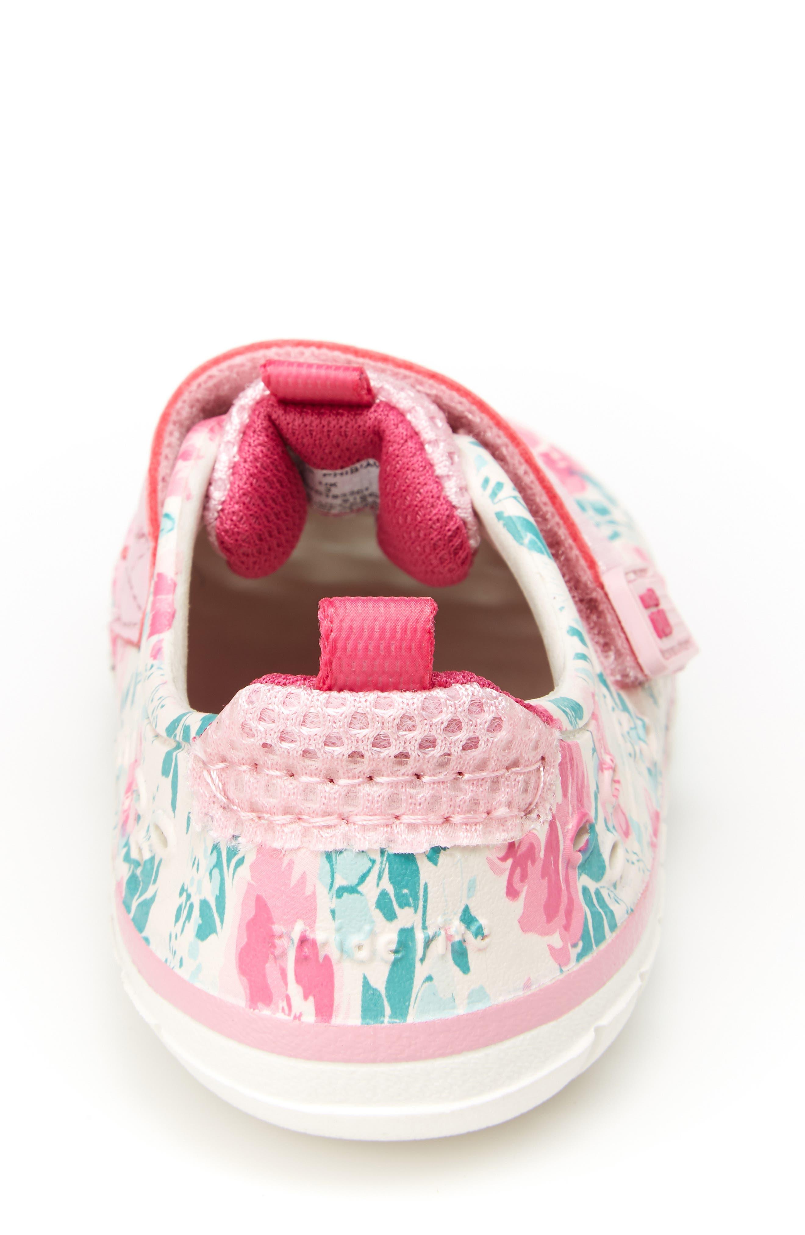 STRIDE RITE, Made2Play<sup>®</sup> Phibian Sneaker, Alternate thumbnail 6, color, WHITE/ PINK EVA