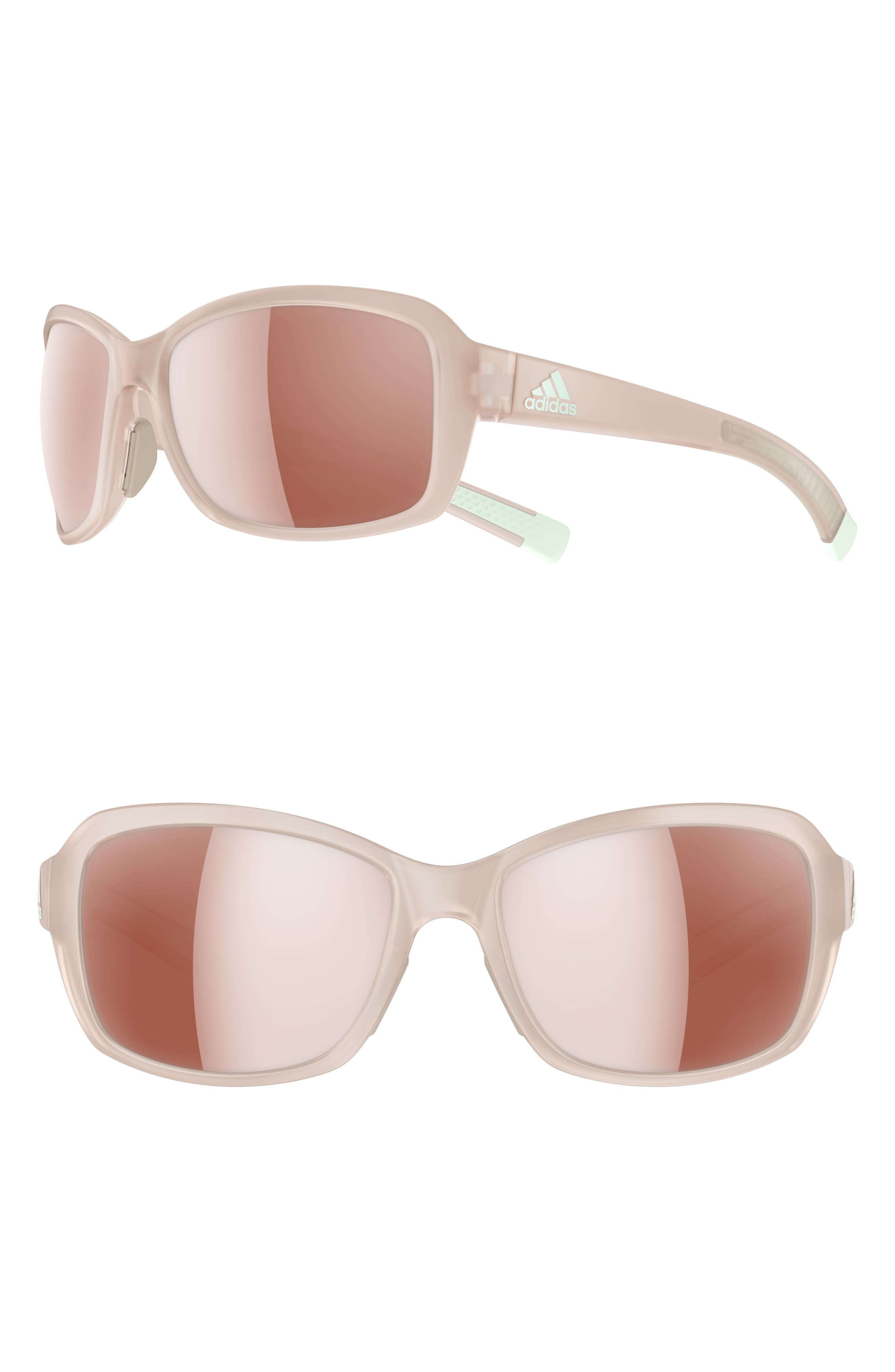 ADIDAS, Baboa 55mm Sport Sunglasses, Main thumbnail 1, color, MATTE GREY/ ACTIVE SILVER