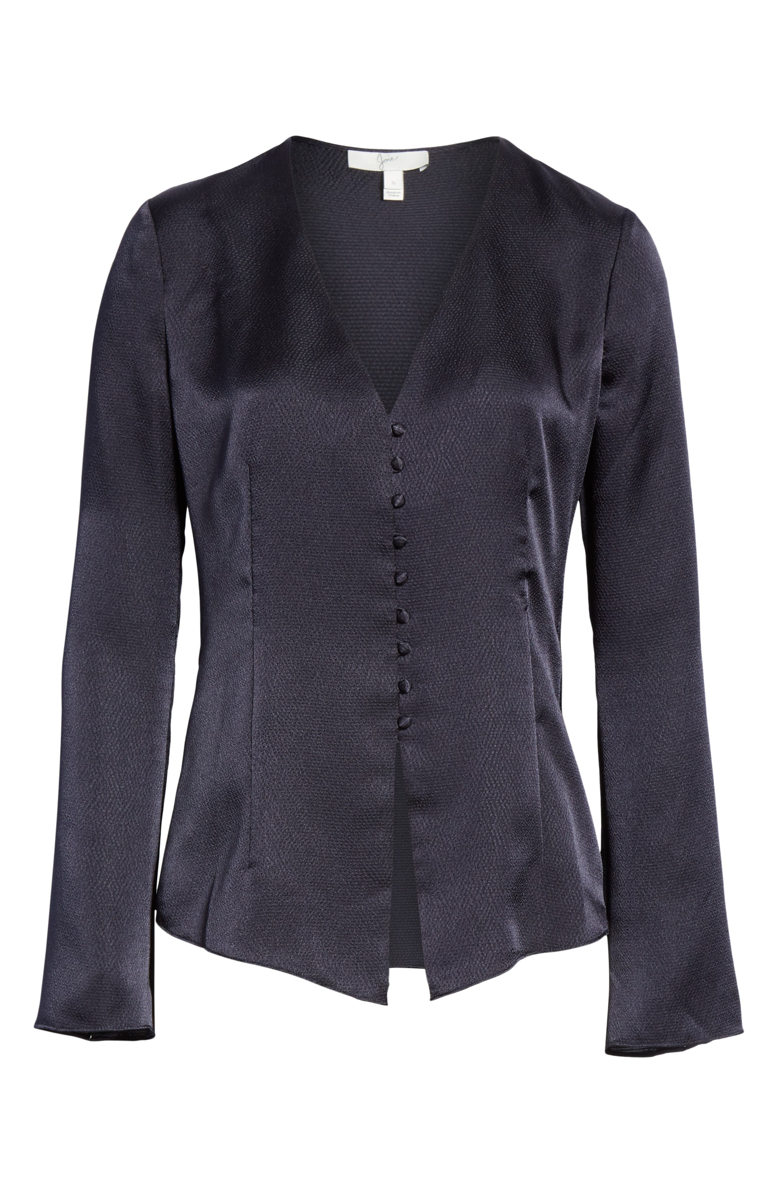 JOIE, Madora Top, Alternate thumbnail 6, color, MIDNIGHT