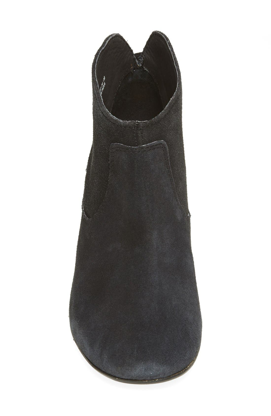 H BY HUDSON, 'Kiver' Suede Bootie, Alternate thumbnail 2, color, 001