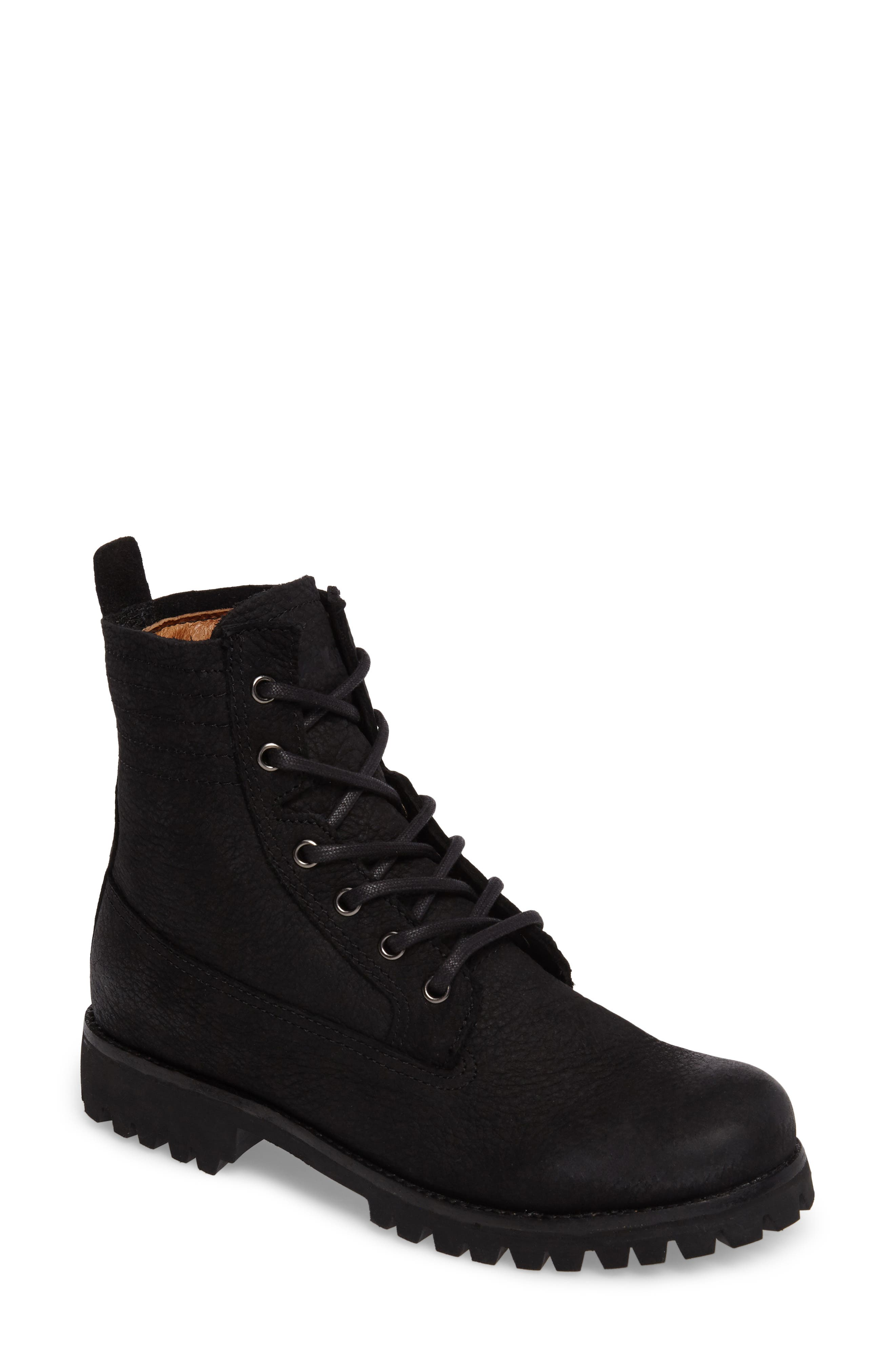 Blackstone Ol23 Lace-Up Boot Black