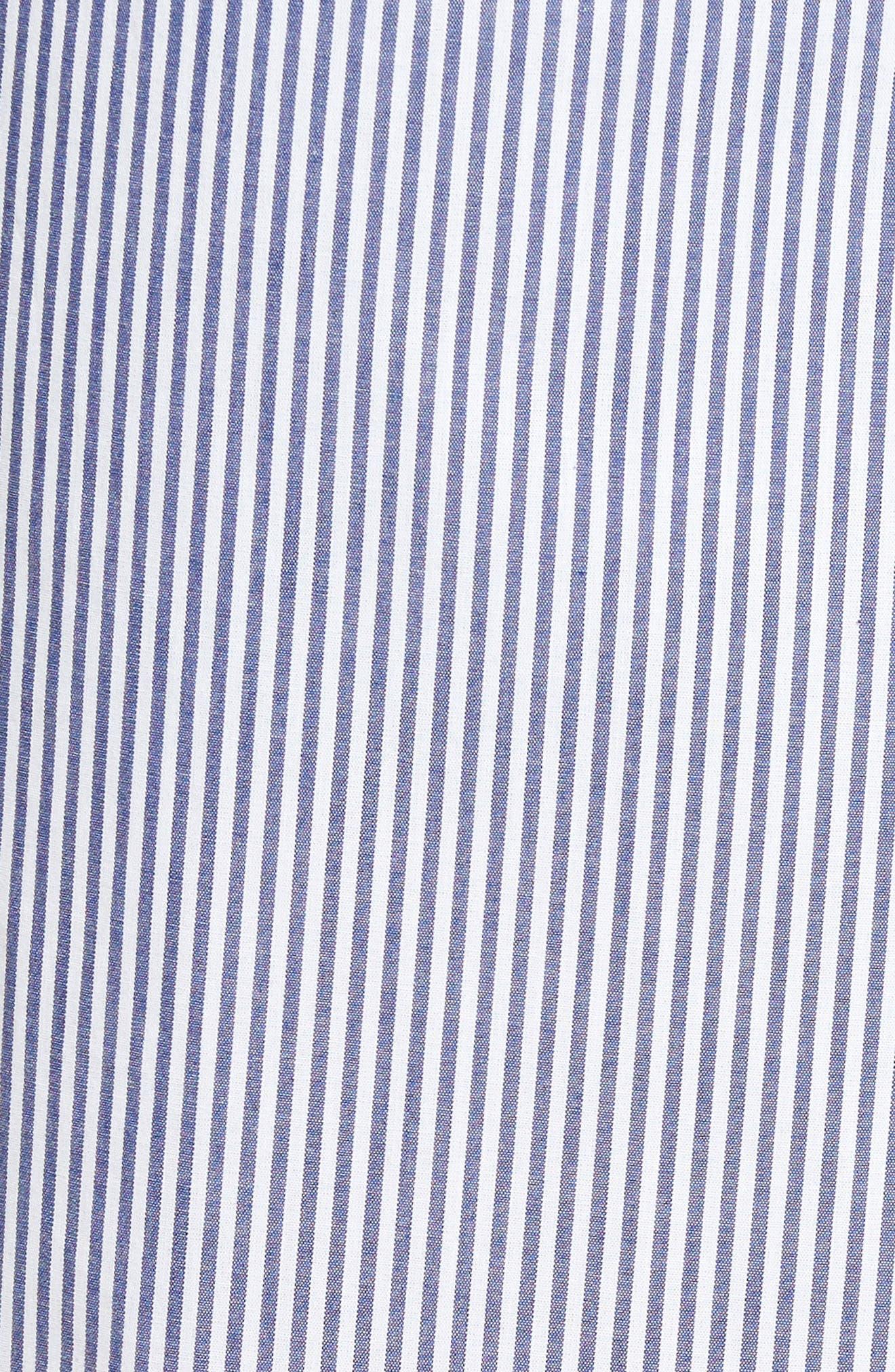 MAJESTIC INTERNATIONAL, Bengal Stripe Robe, Alternate thumbnail 5, color, NAVY/ WHITE