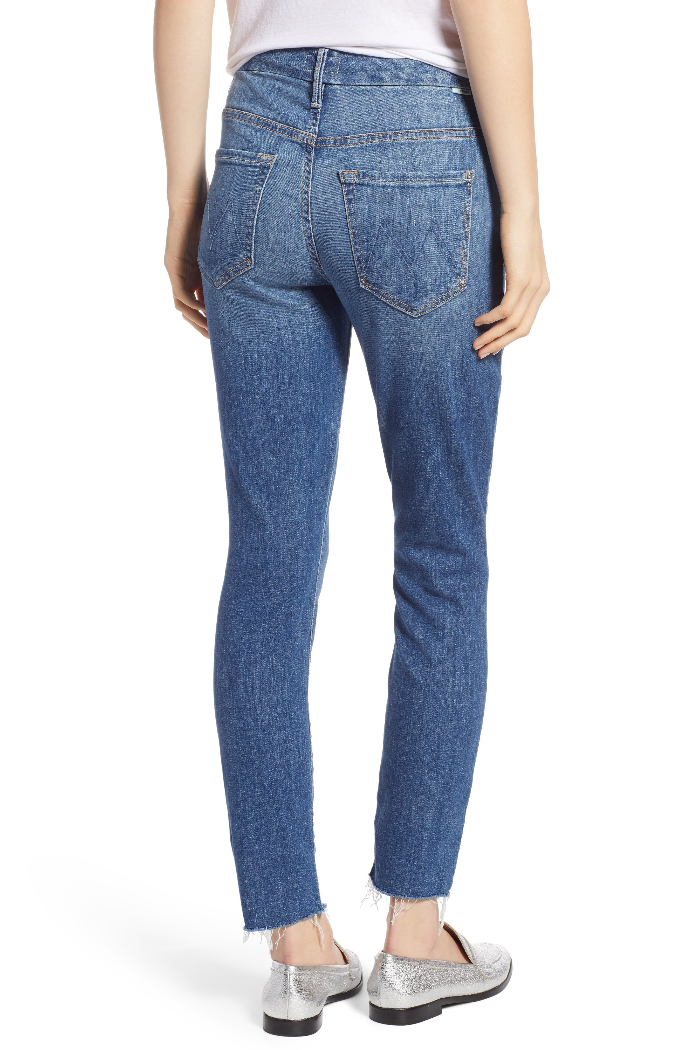 MOTHER, The Looker Frayed Ankle Jeans, Alternate thumbnail 2, color, ONE SMART COOKIE