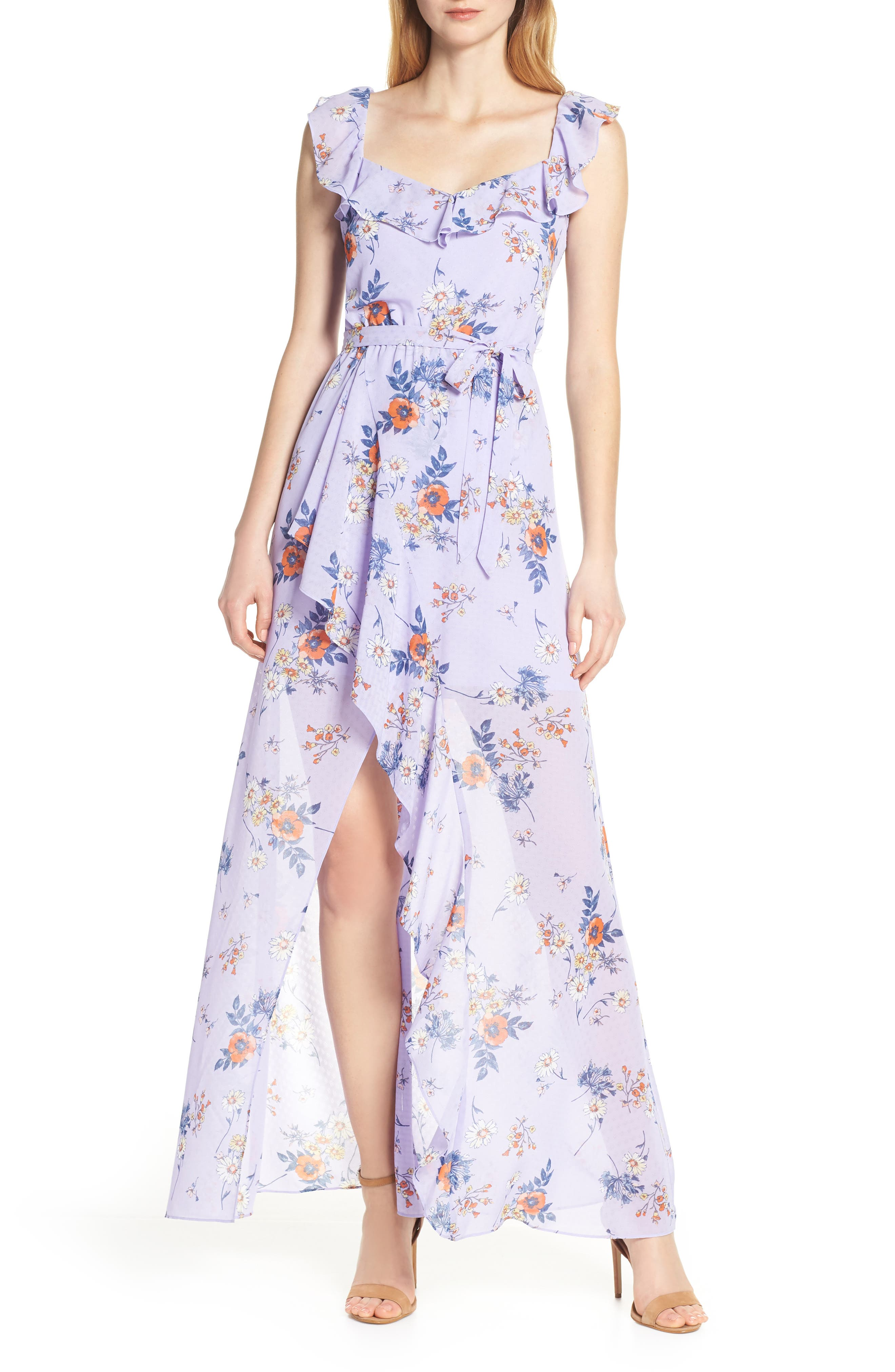 ALI & JAY Sure Thing Maxi Dress, Main, color, LAVENDER FIELD FLORAL