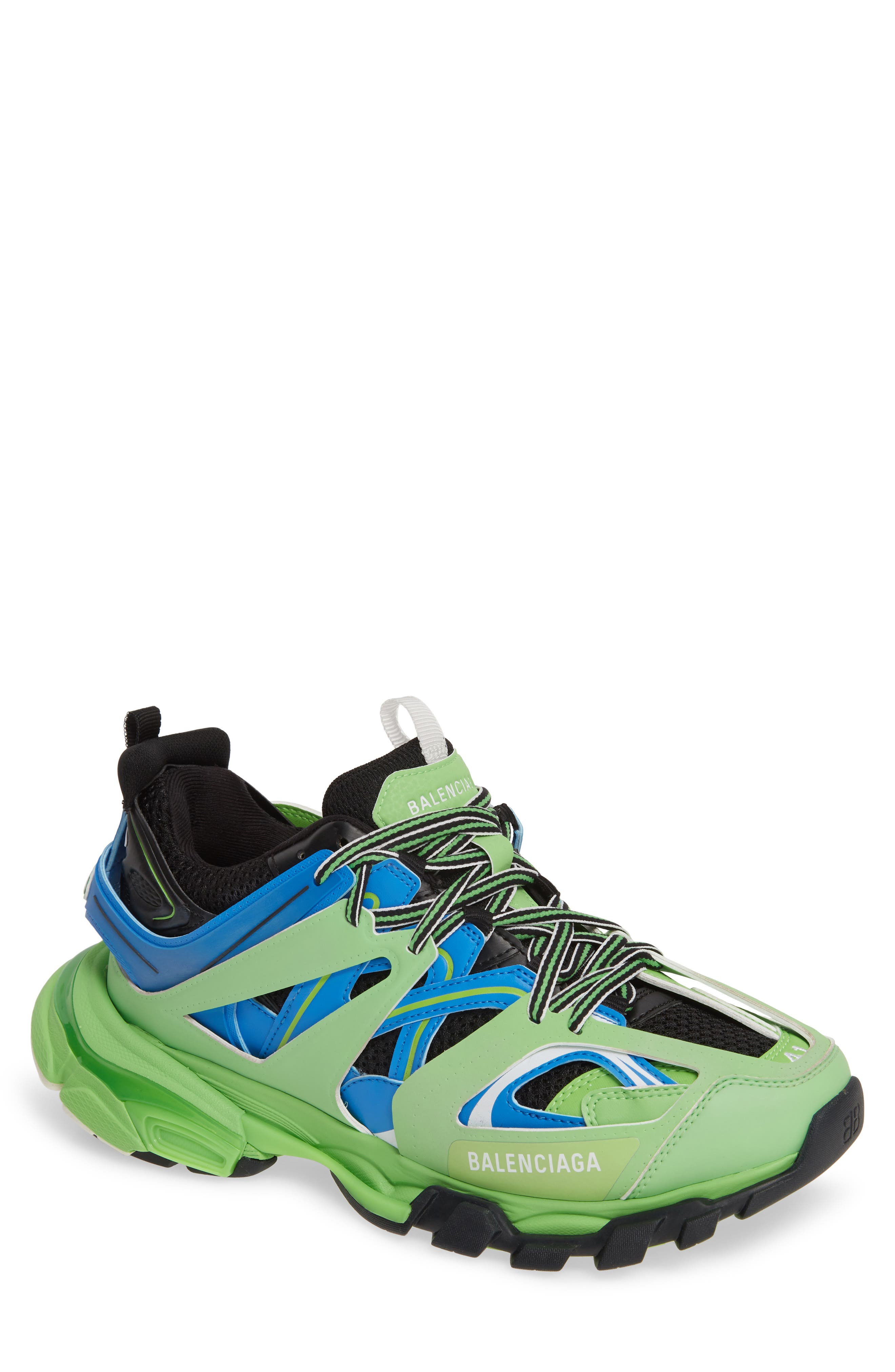 BALENCIAGA, Track Sneaker, Main thumbnail 1, color, 4078 BLUE/ GREEN