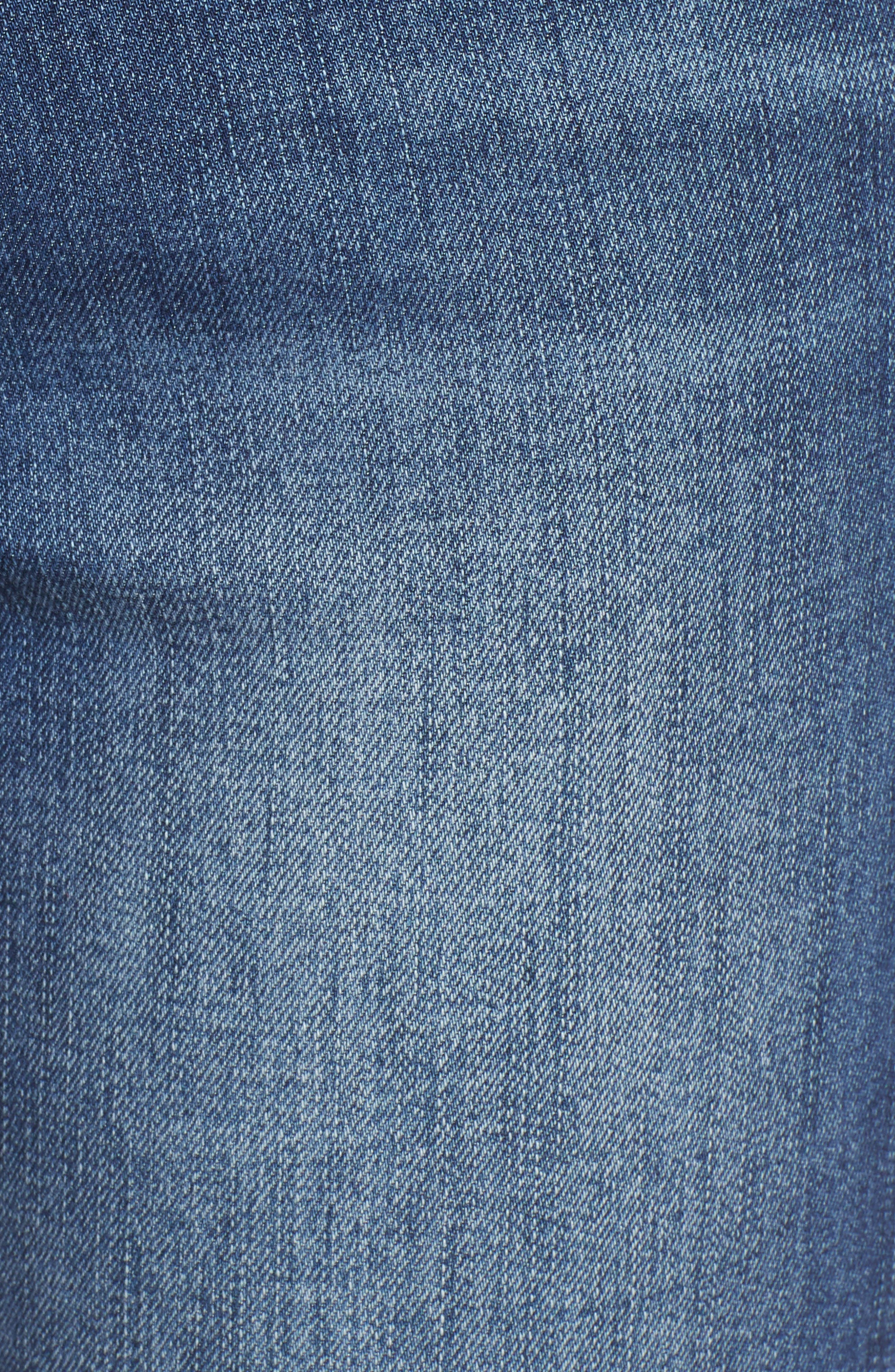 LEITH, High Waist Flare Jeans, Alternate thumbnail 6, color, MEDIUM WASH
