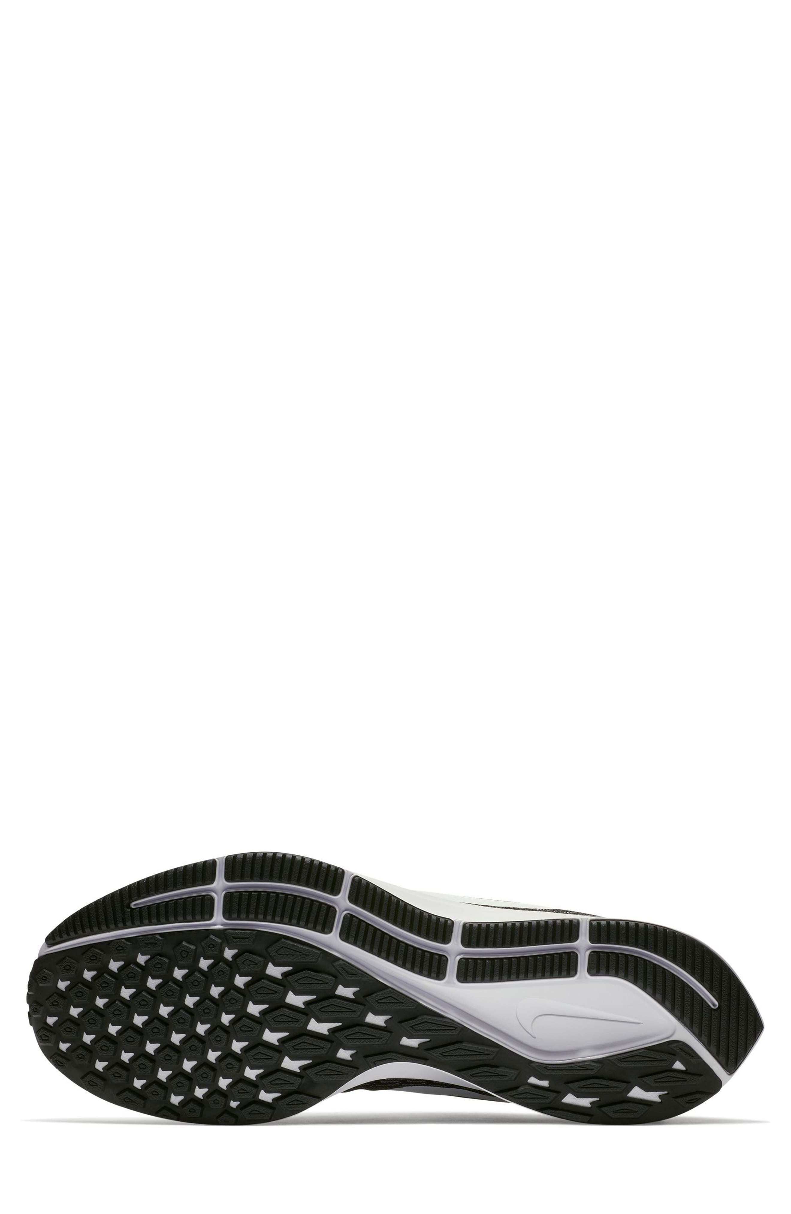 NIKE, Air Zoom Pegasus 35 Running Shoe, Alternate thumbnail 4, color, BLACK/ WHITE/ BLACK