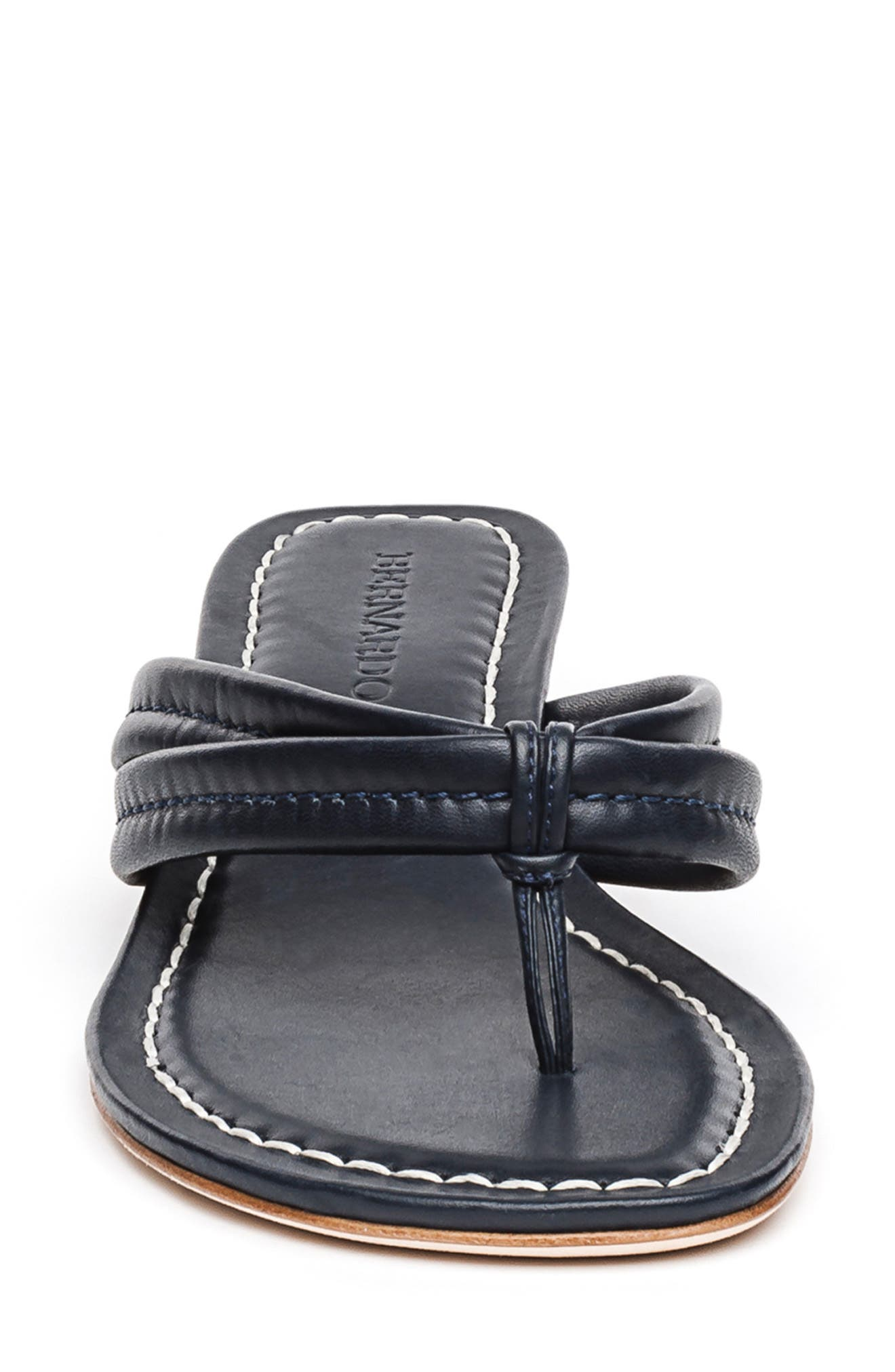 BERNARDO, Miami Sandal, Alternate thumbnail 4, color, BLACK ANTIQUE LEATHER