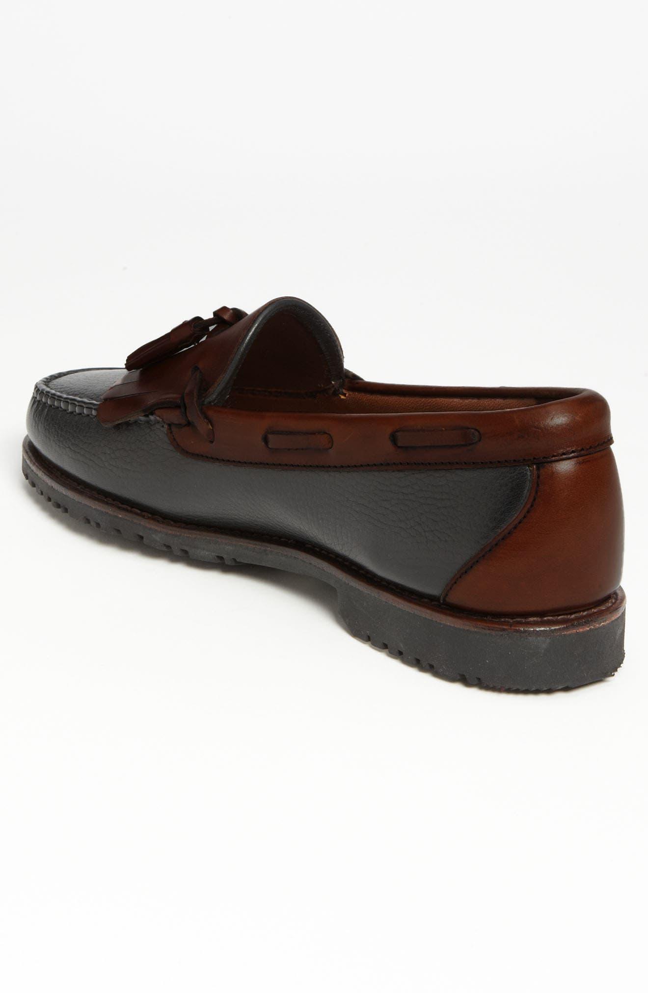 ALLEN EDMONDS, 'Nashua' Tassel Loafer, Alternate thumbnail 2, color, BLACK/ BROWN