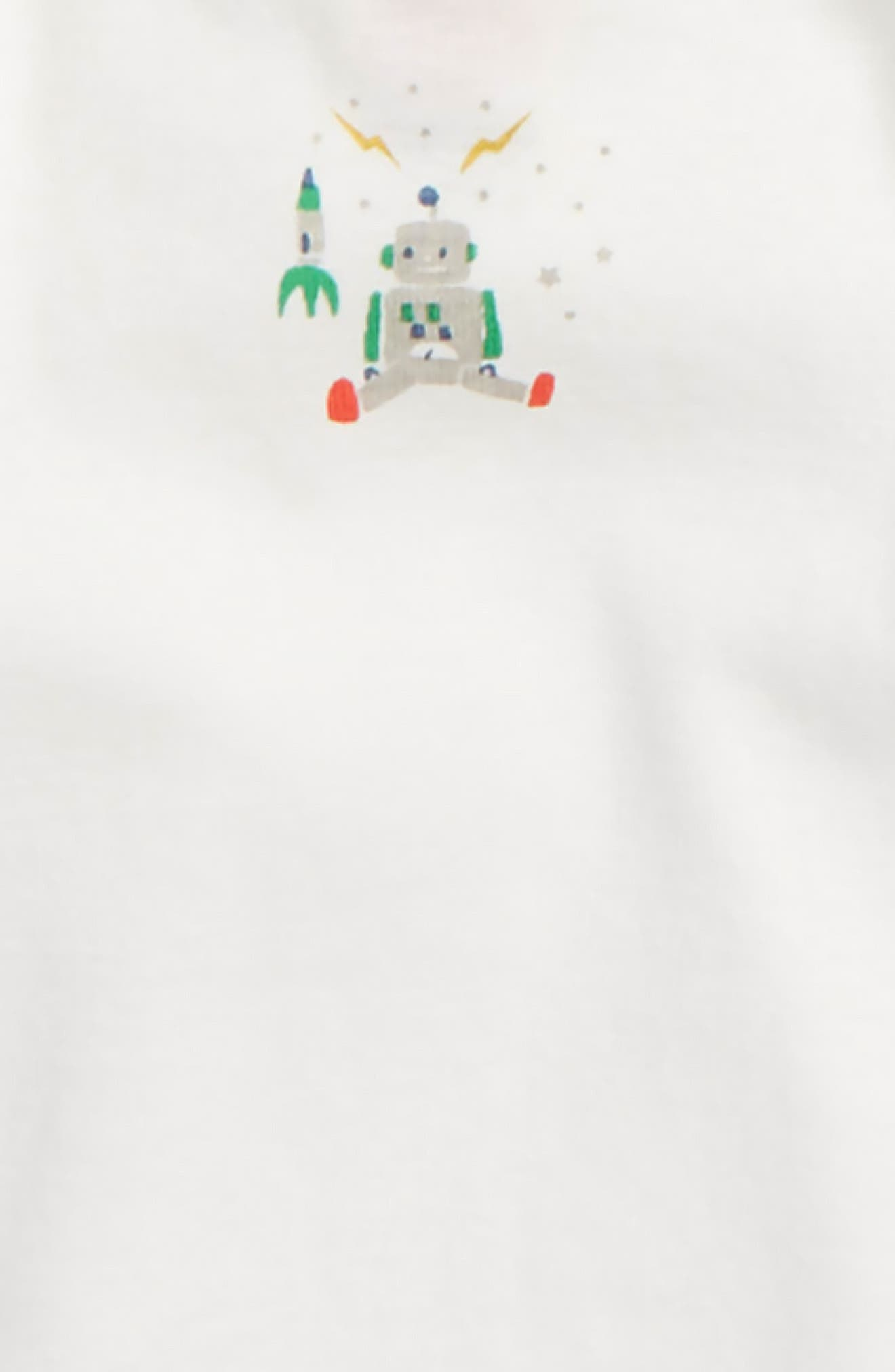 MINI BODEN, Robot 5-Pack Organic Cotton Bodysuits, Alternate thumbnail 2, color, 186