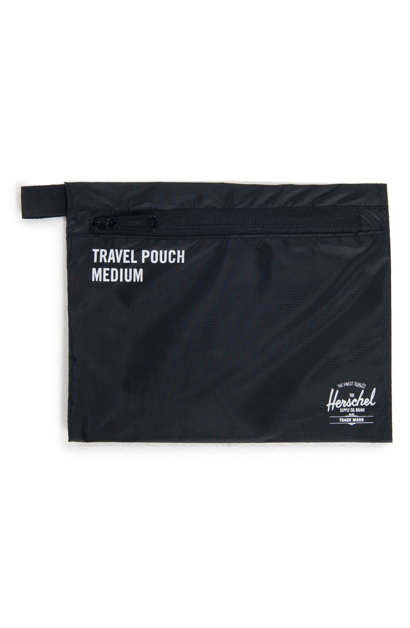 HERSCHEL SUPPLY CO., Travel Pouch Set, Alternate thumbnail 4, color, BLACK