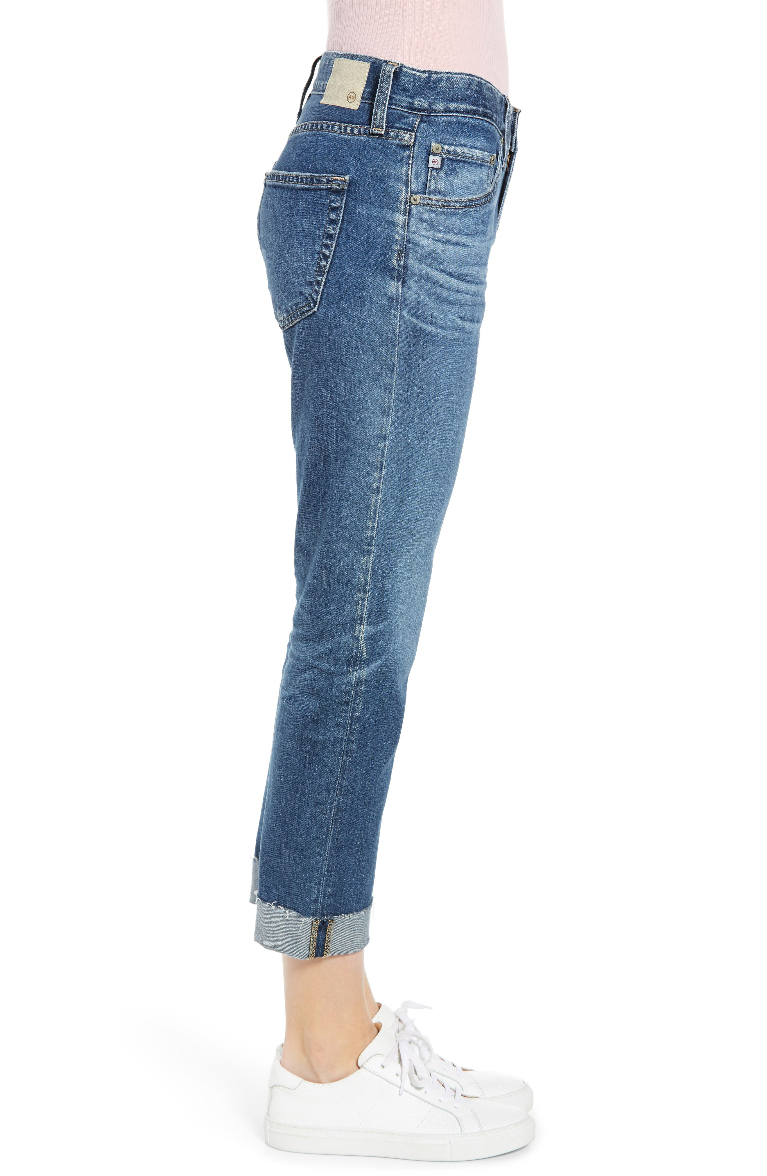 AG, The Ex-Boyfriend Slim Jeans, Alternate thumbnail 4, color, 14 YEAR COOL WATER