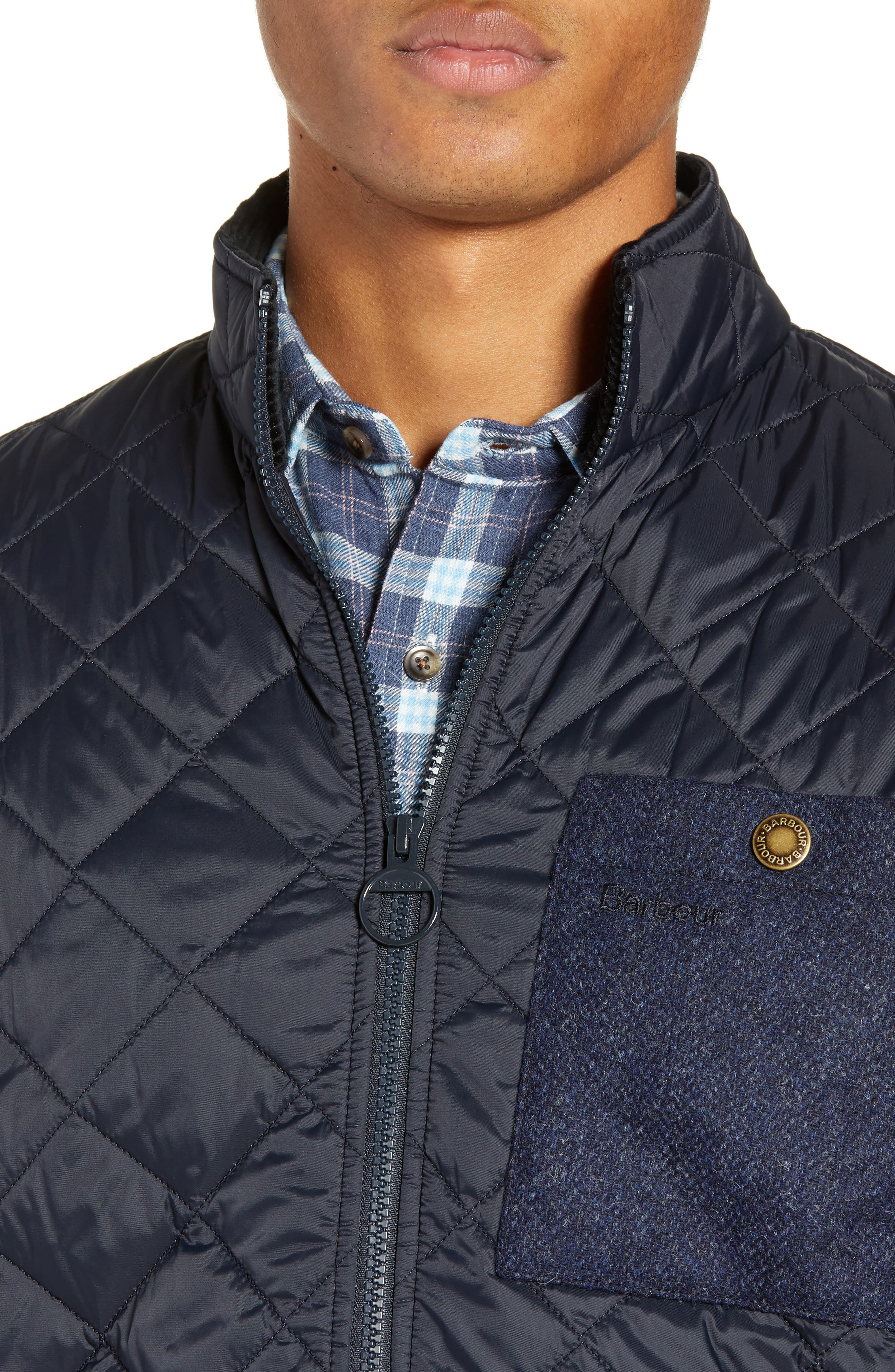 BARBOUR, Barbout Abaft Quilted Jacket, Alternate thumbnail 5, color, NAVY