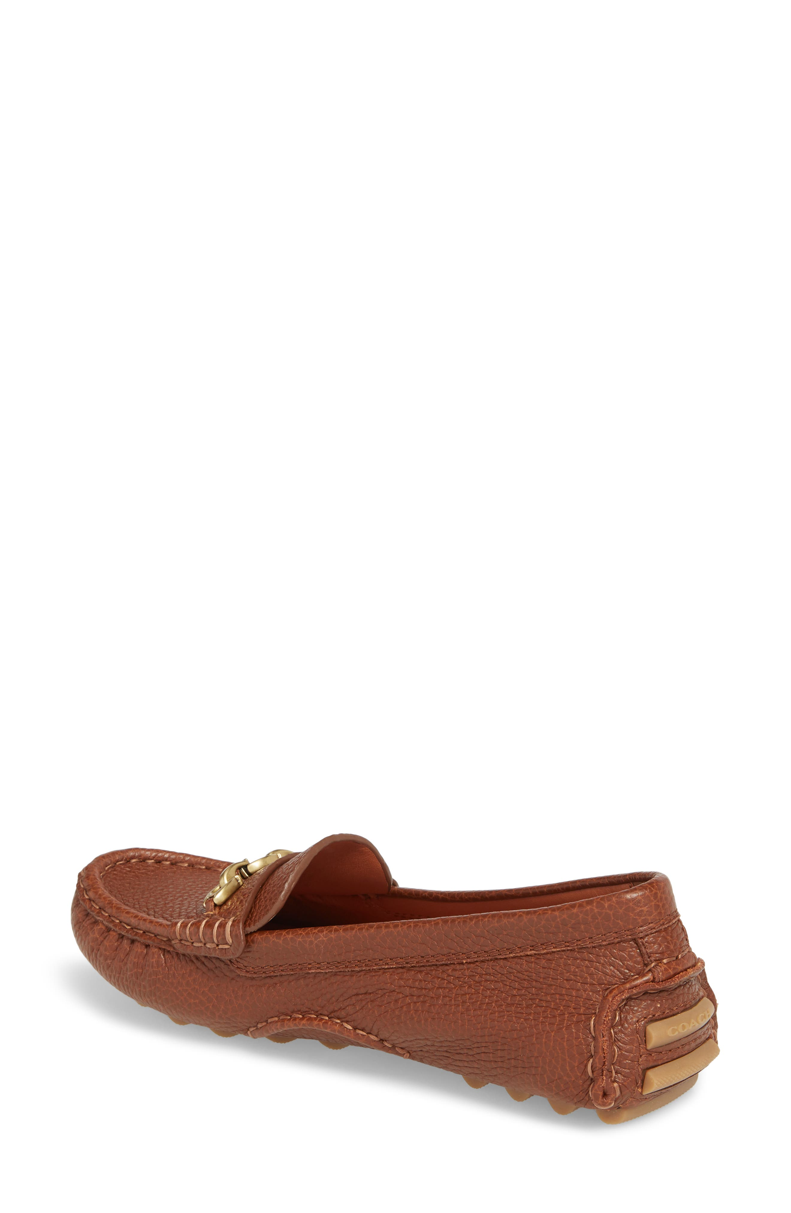 COACH, Crosby Driver Loafer, Alternate thumbnail 2, color, LION PEBBLED LEATHER