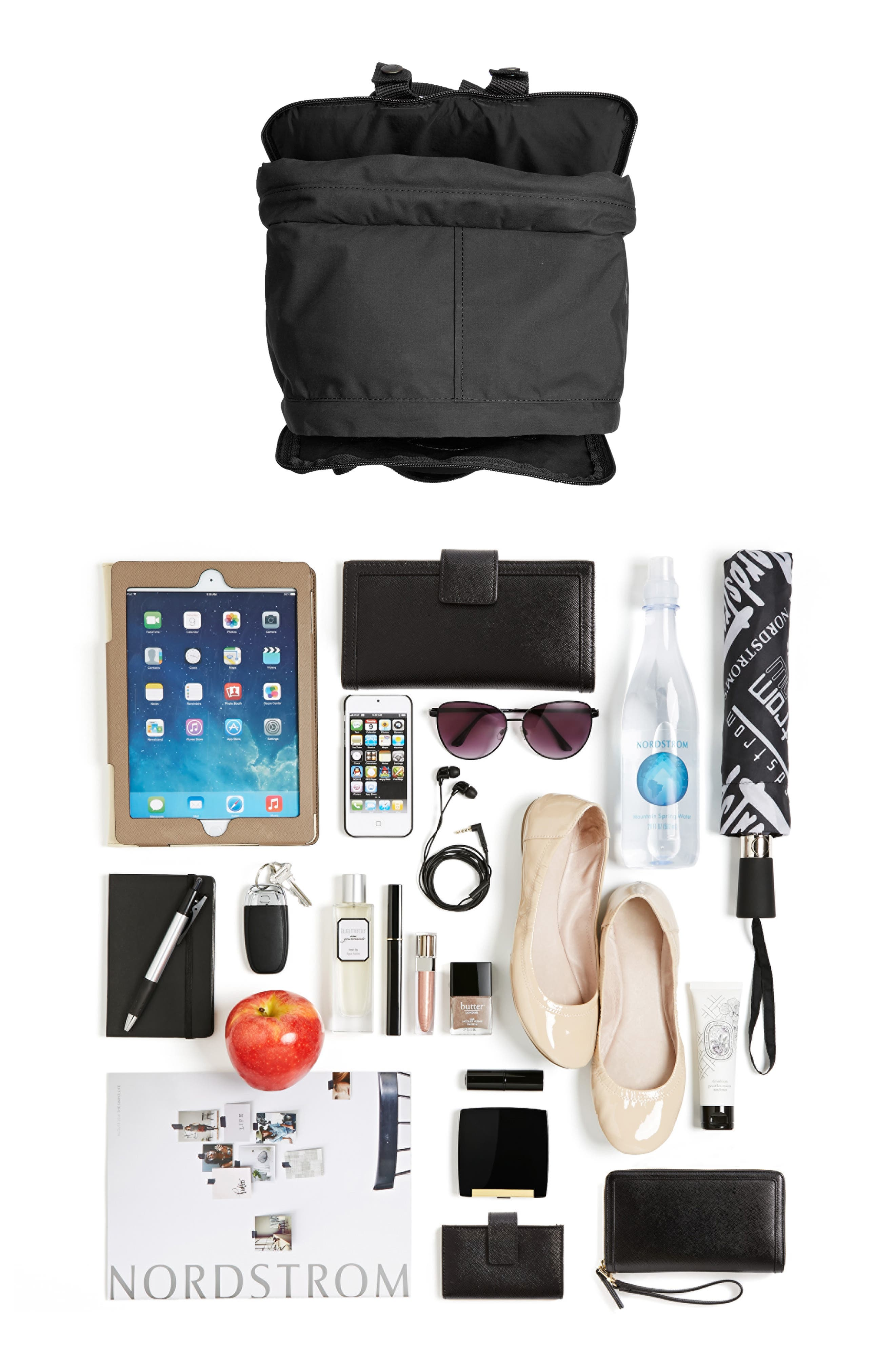 FJÄLLRÄVEN, 'Kånken' Laptop Backpack, Alternate thumbnail 8, color, BLACK