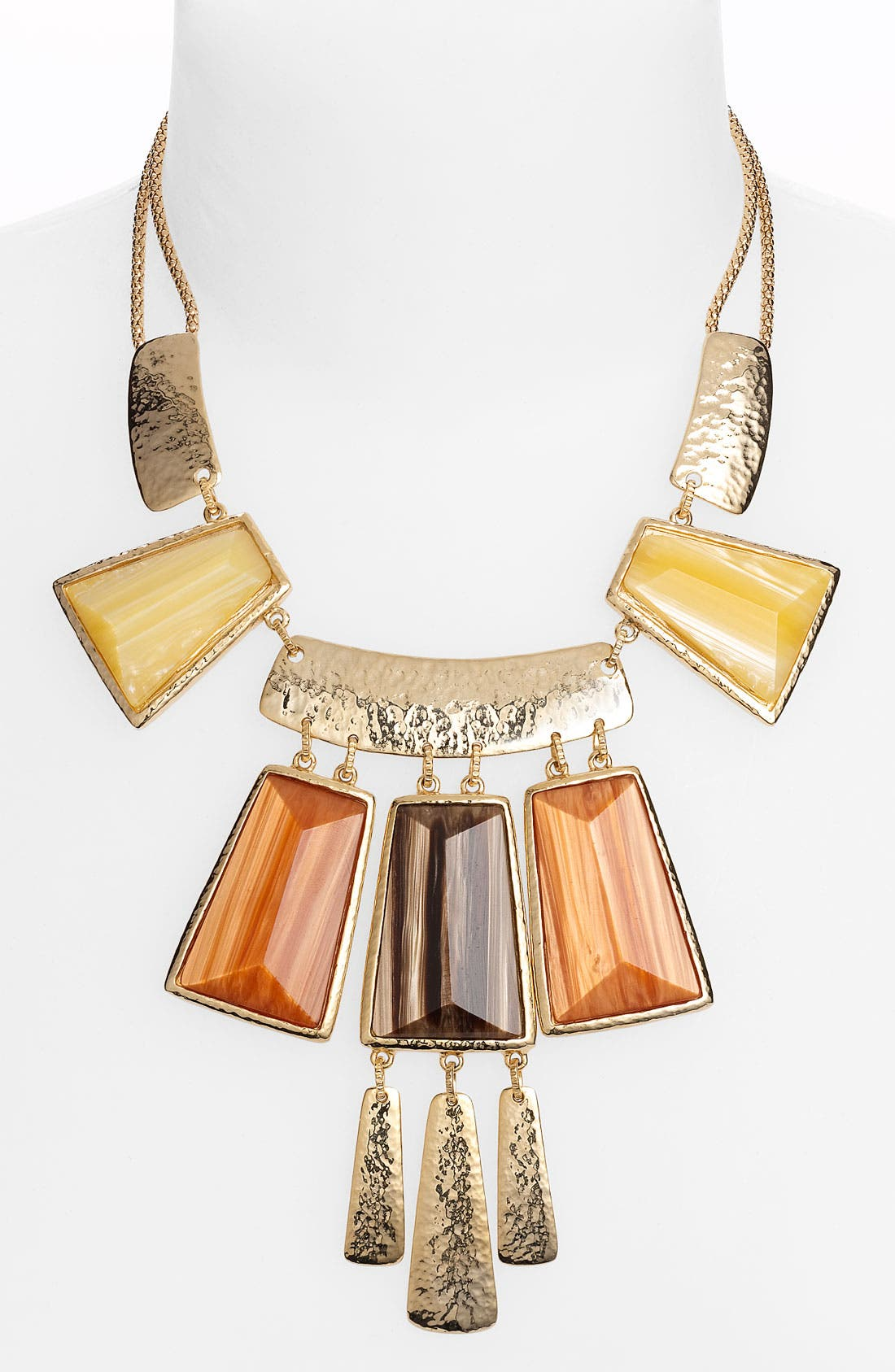 NORDSTROM, 'Tribal Deluxe' Frontal Statement Necklace, Main thumbnail 1, color, 200
