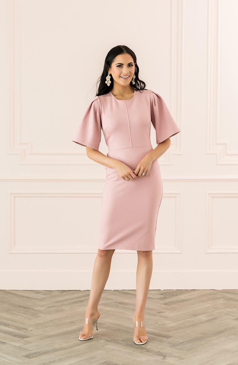 Rachel Parcell Flutter Sleeve Ponte Dress (Nordstrom Exclusive) | Nordstrom
