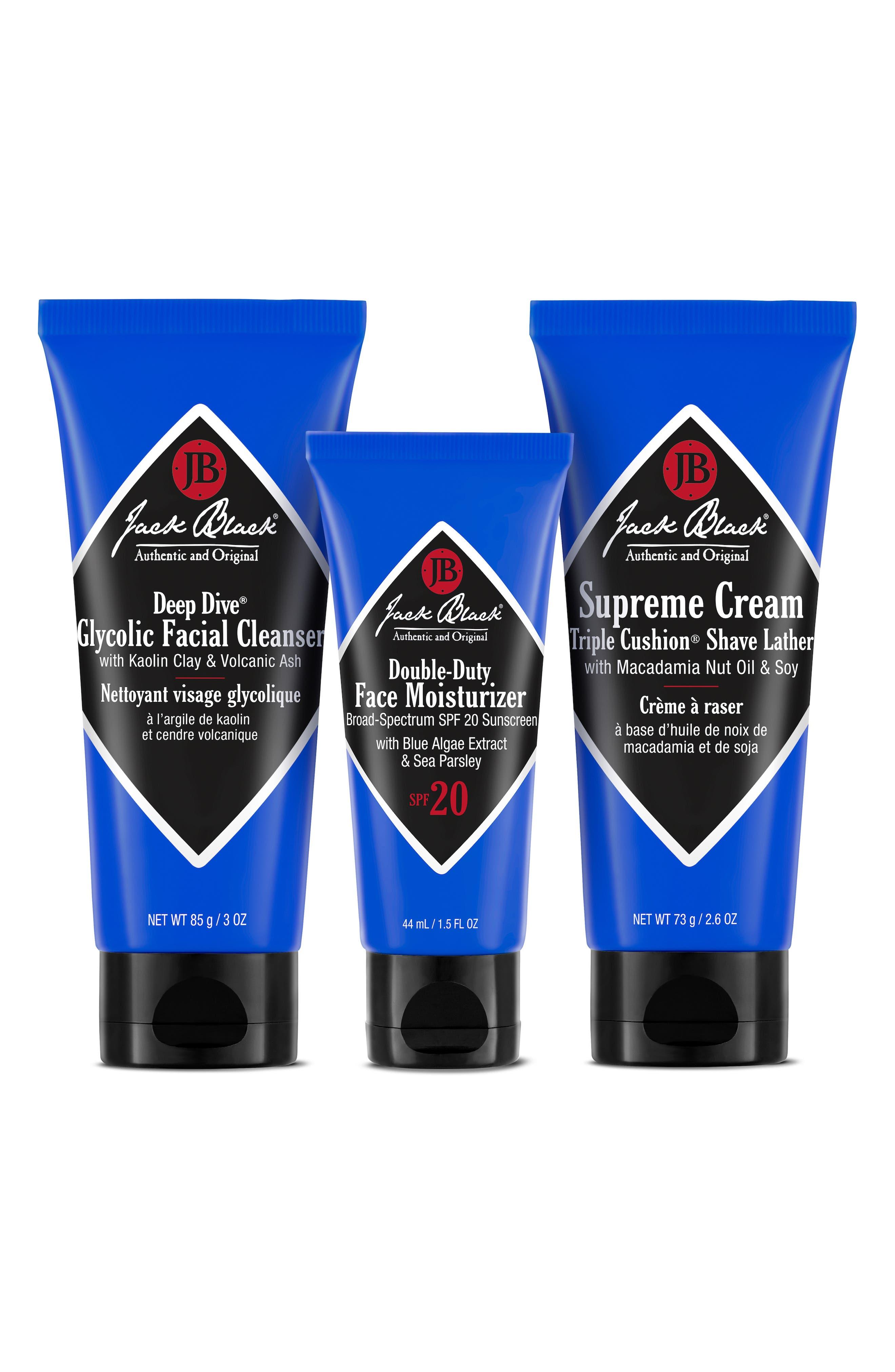 JACK BLACK Shave Essentials Set, Main, color, NO COLOR