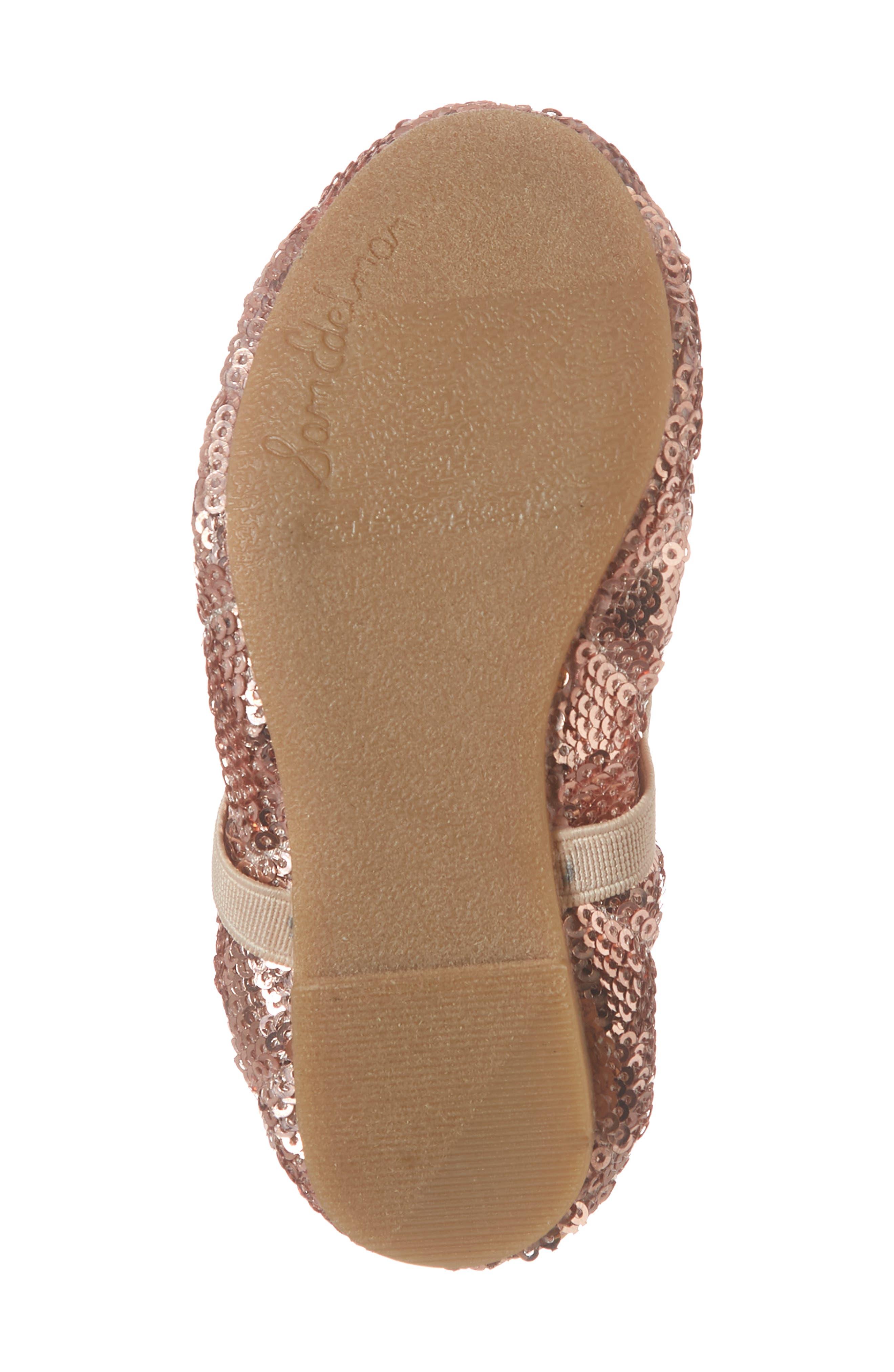 SAM EDELMAN, 'Felicia' Mary Jane Ballet Flat, Alternate thumbnail 6, color, ROSE GOLD