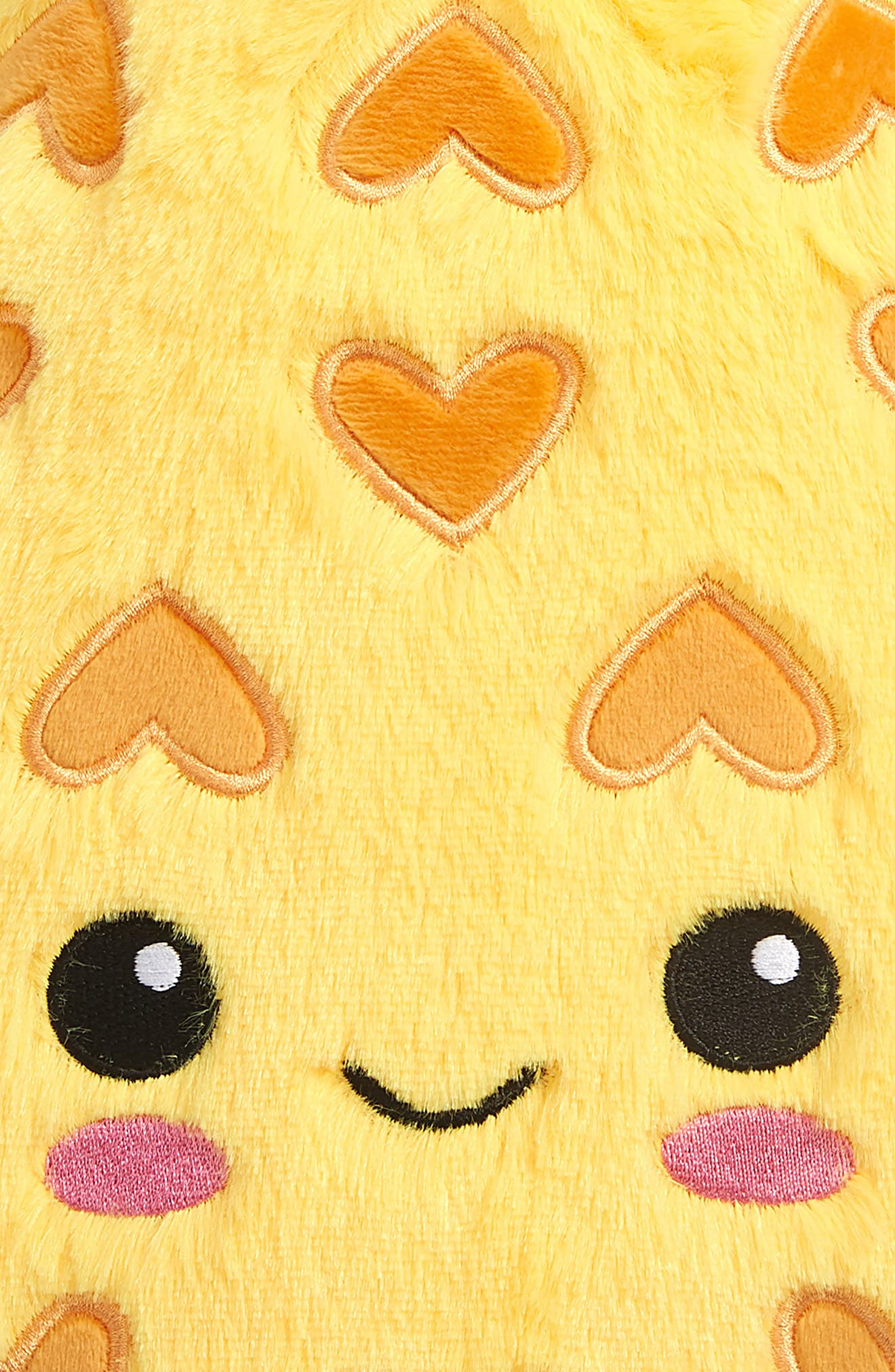 ISCREAM, Pineapple Scented Furry Pillow, Alternate thumbnail 3, color, YELLOW