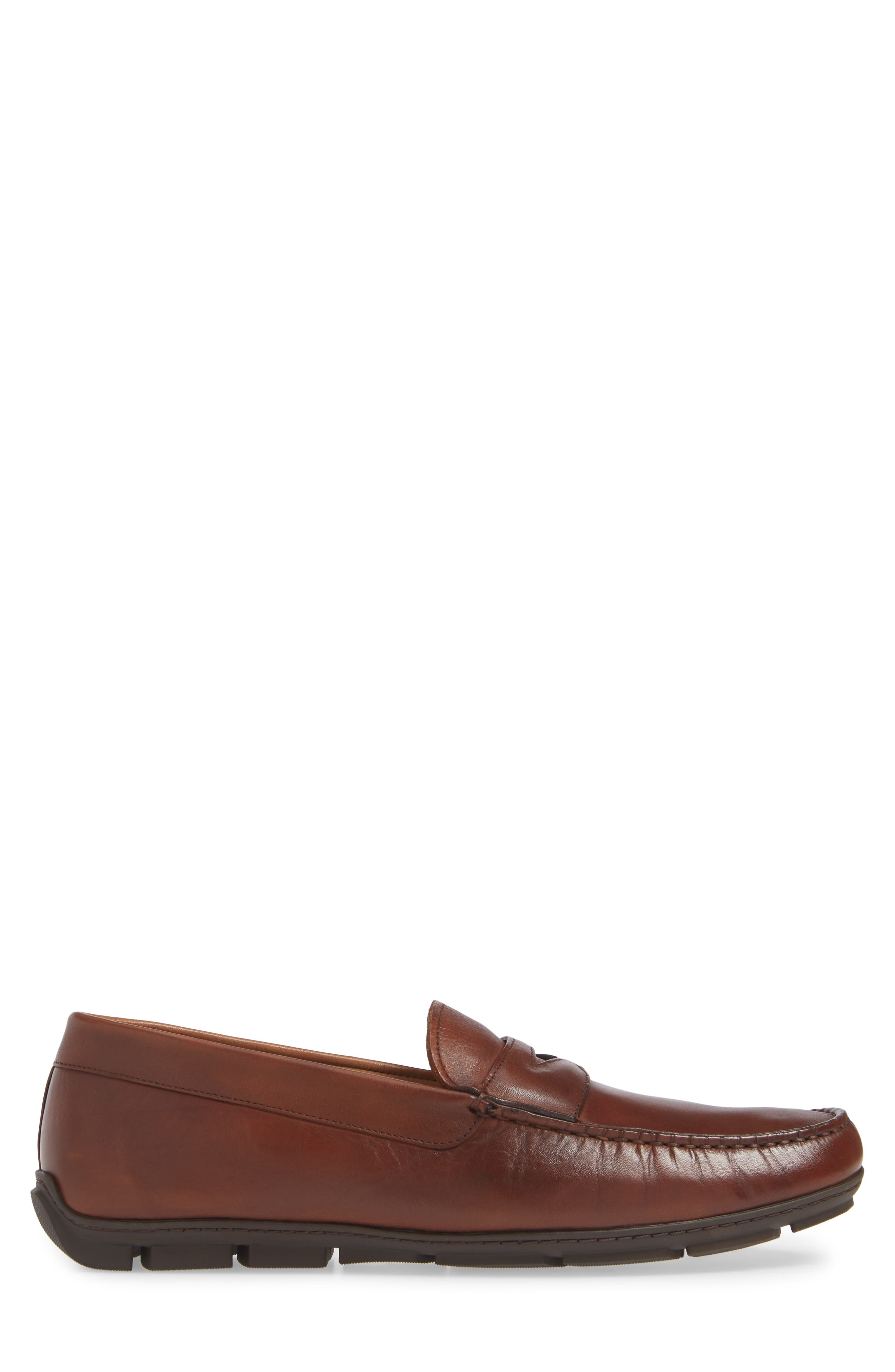 VINCE CAMUTO, Ditto Driving Shoe, Alternate thumbnail 3, color, COGNAC LEATHER