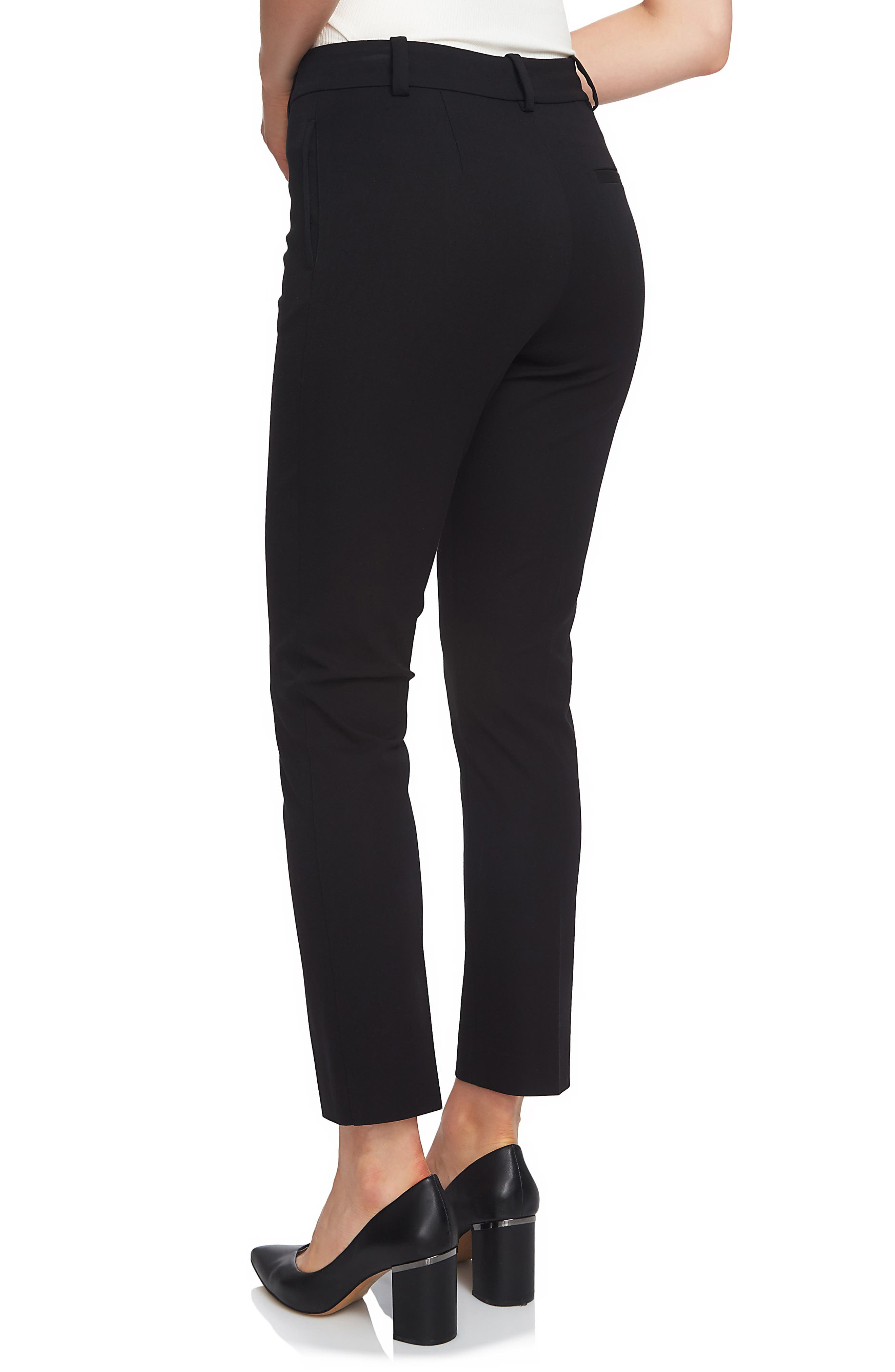 1.STATE, Stretch Twill Slim Ankle Pants, Alternate thumbnail 2, color, RICH BLACK