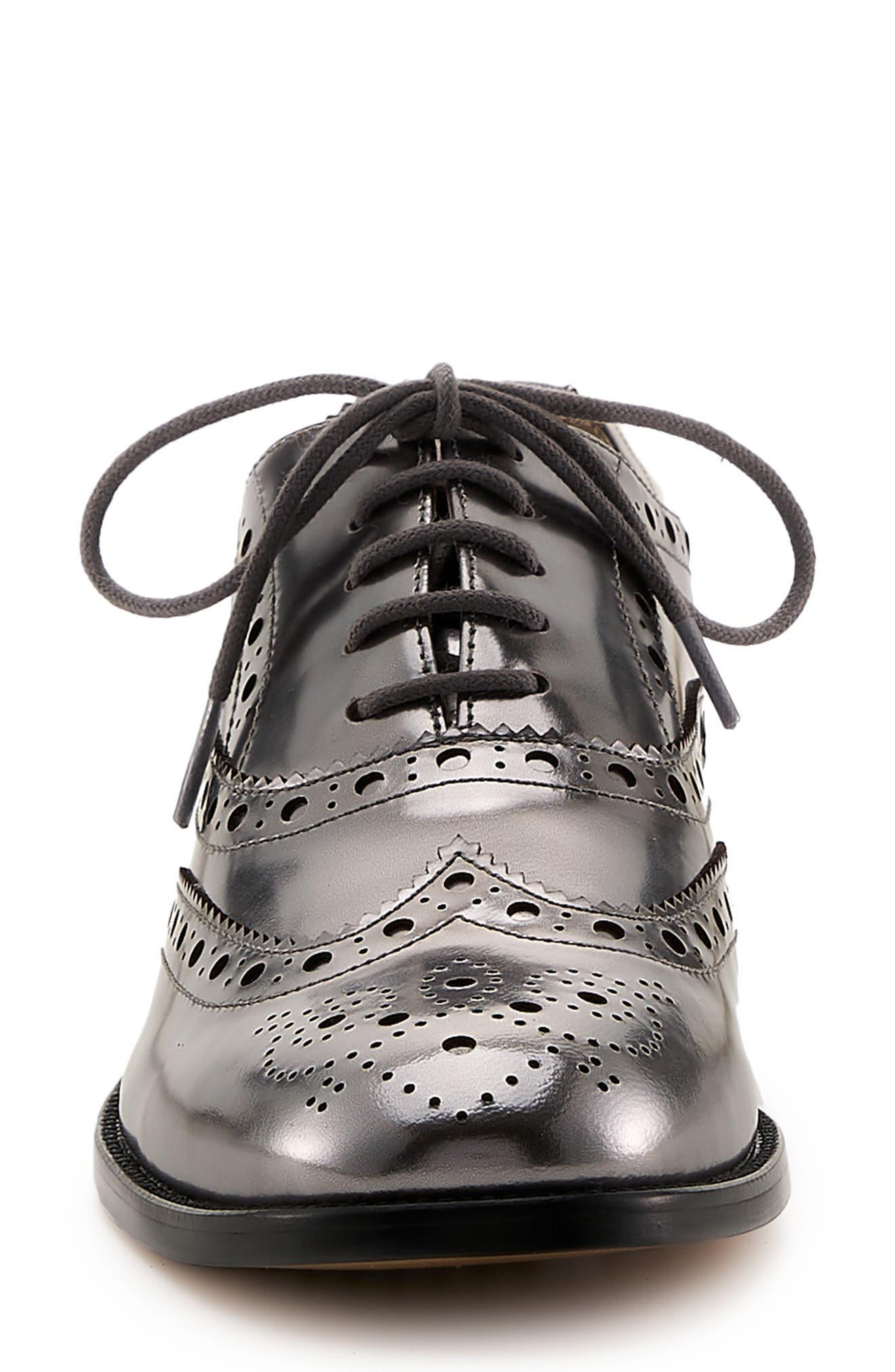 BOTKIER, Calista Metallic Wingtip Oxford, Alternate thumbnail 4, color, PEWTER METALLIC