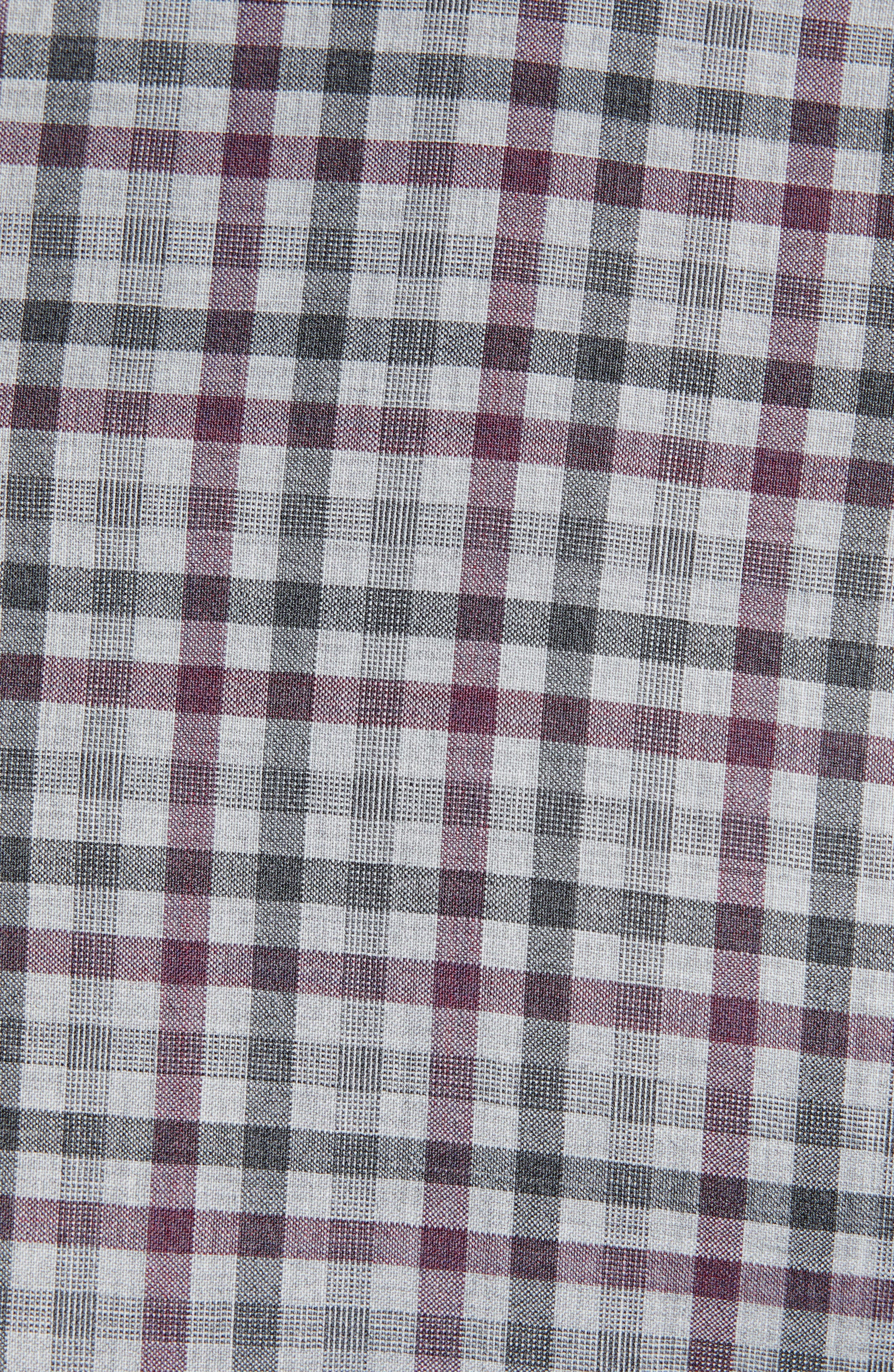 JOHN W. NORDSTROM<SUP>®</SUP>, Traditional Fit Check Sport Coat, Alternate thumbnail 6, color, GREY ALLOY BURGUNDY PLAID