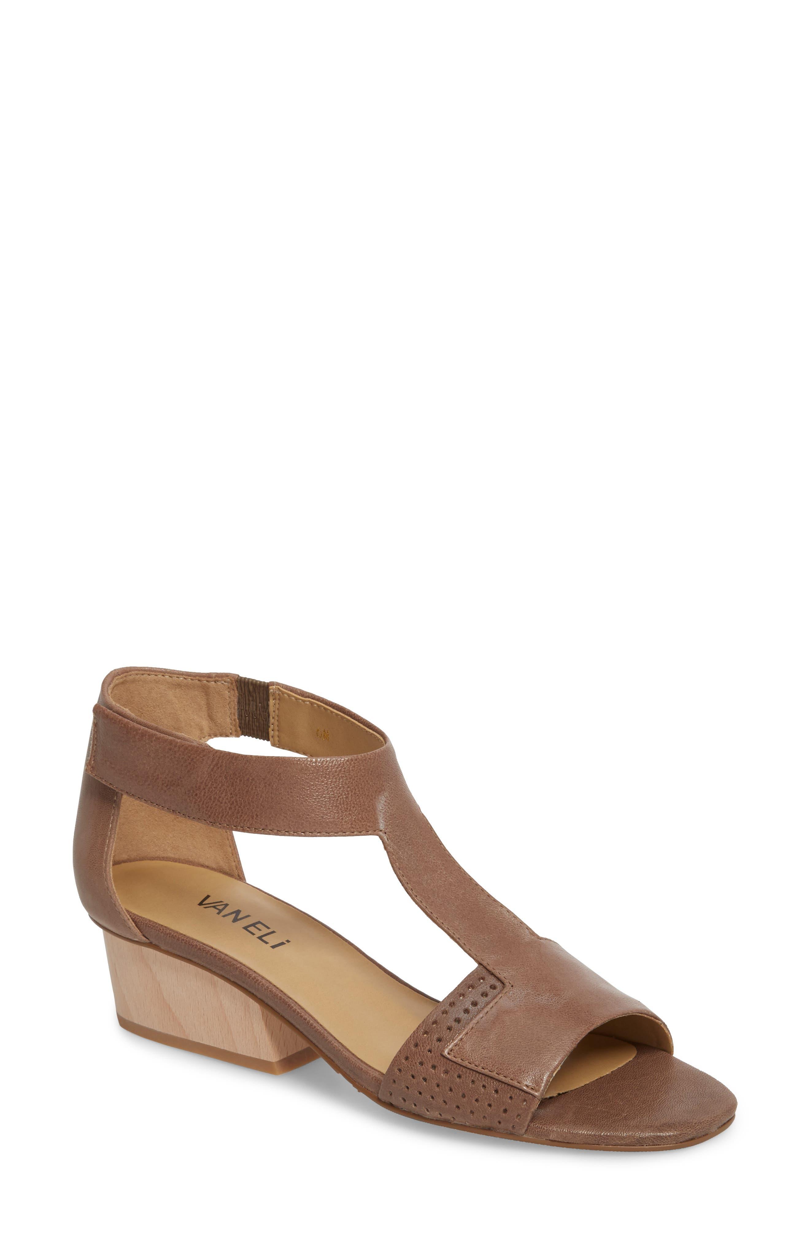 VANELI Calyx Block Heel Sandal, Main, color, STONE LEATHER