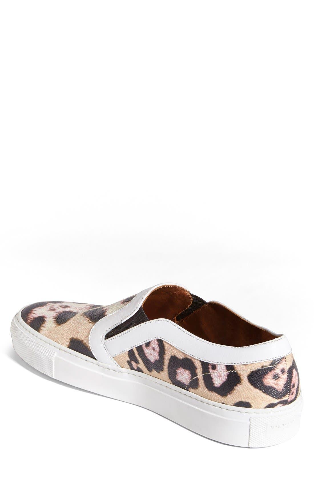GIVENCHY, Leopard Print Skate Slip-On Sneaker, Alternate thumbnail 2, color, 200